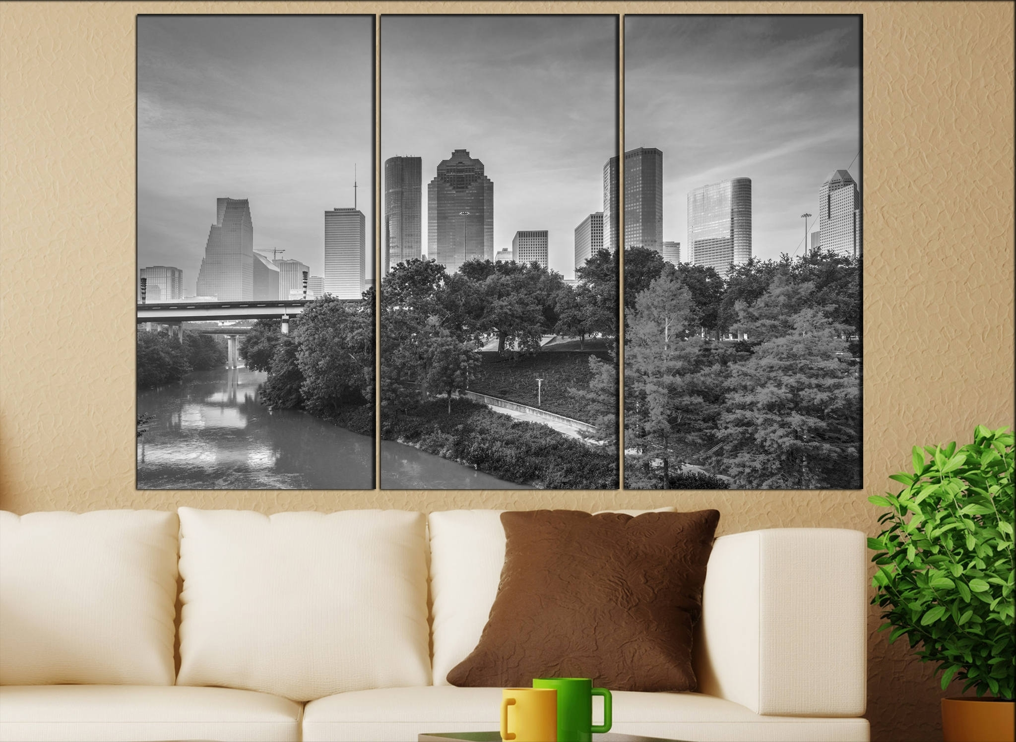 Houston, Texas Canvas Wall Art Houston Wall Decoration Houston For Latest Houston Canvas Wall Art (View 11 of 15)