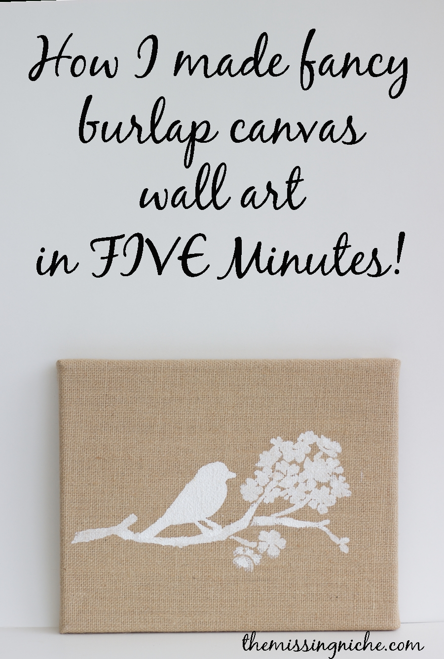 How I Made Fancy Burlap Canvas Wall Art In Five Minutes – The In Newest Burlap Fabric Wall Art (Gallery 1 of 15)