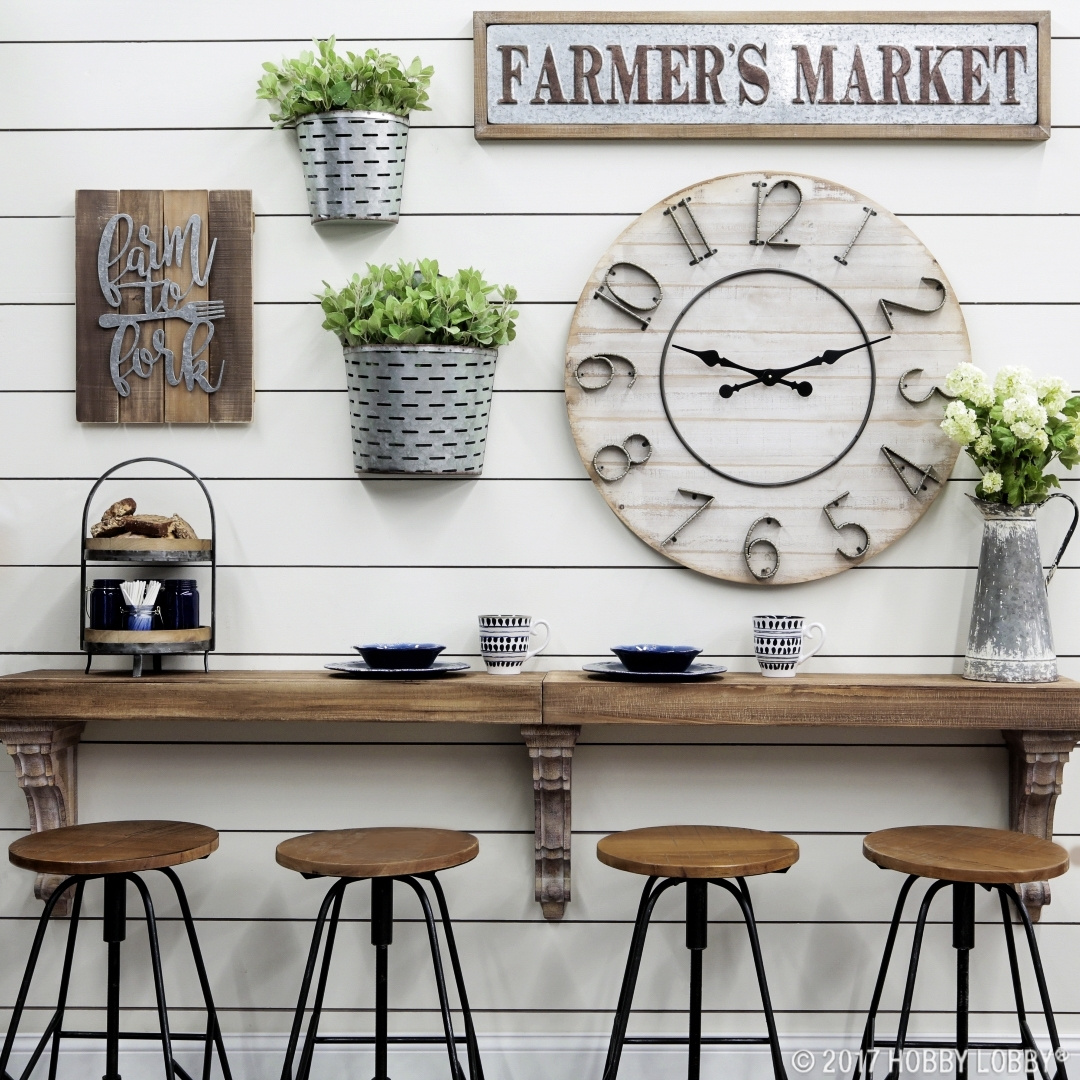 How To Create A Farmhouse Look At Home Pertaining To 2018 Hobby Lobby Wall Accents (View 11 of 15)