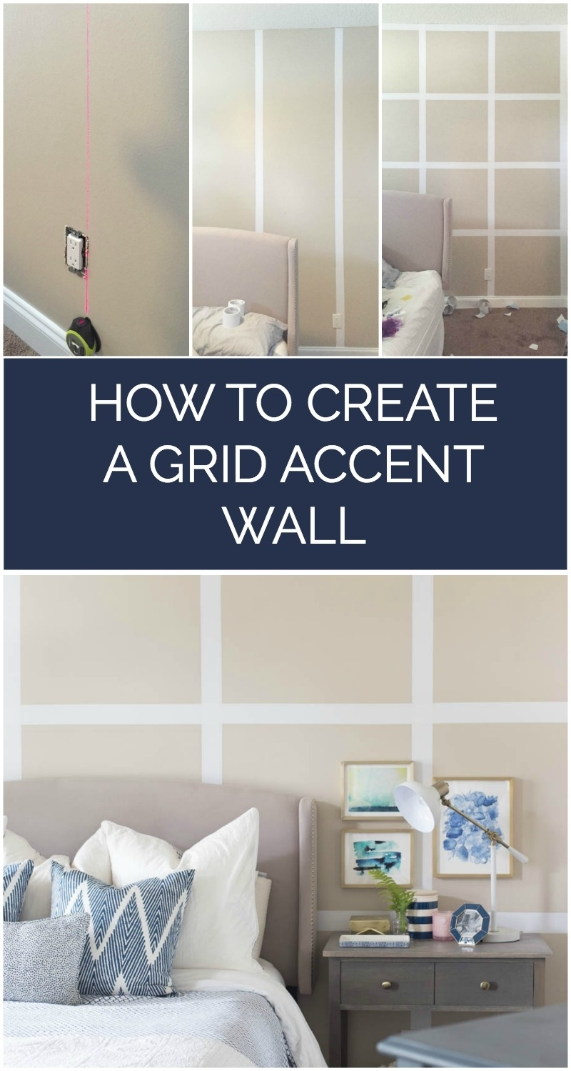 How To Create A Grid Accent Wall Without Paint With Recent Wall Accents Without Paint (View 10 of 15)