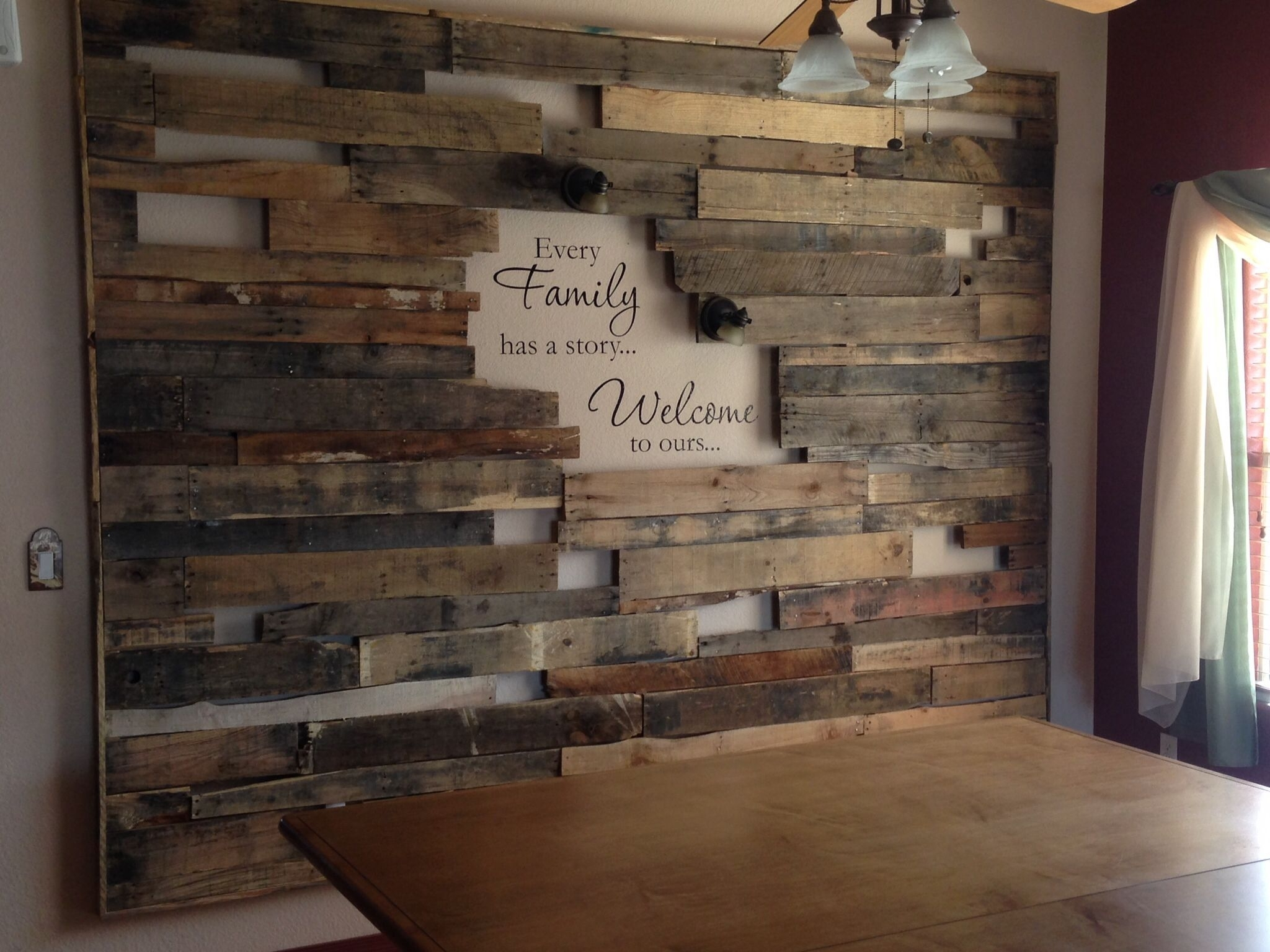 How To Create A Wood Pallet Accent Wall | Pallet Accent Wall Regarding Best And Newest Wall Accents With Pallets (View 7 of 15)