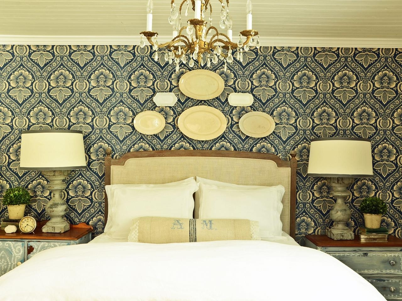 How To Install A Fabric Feature Wall   Hgtv With Most Recently Released Fabric Wall Art Above Bed (View 9 of 15)