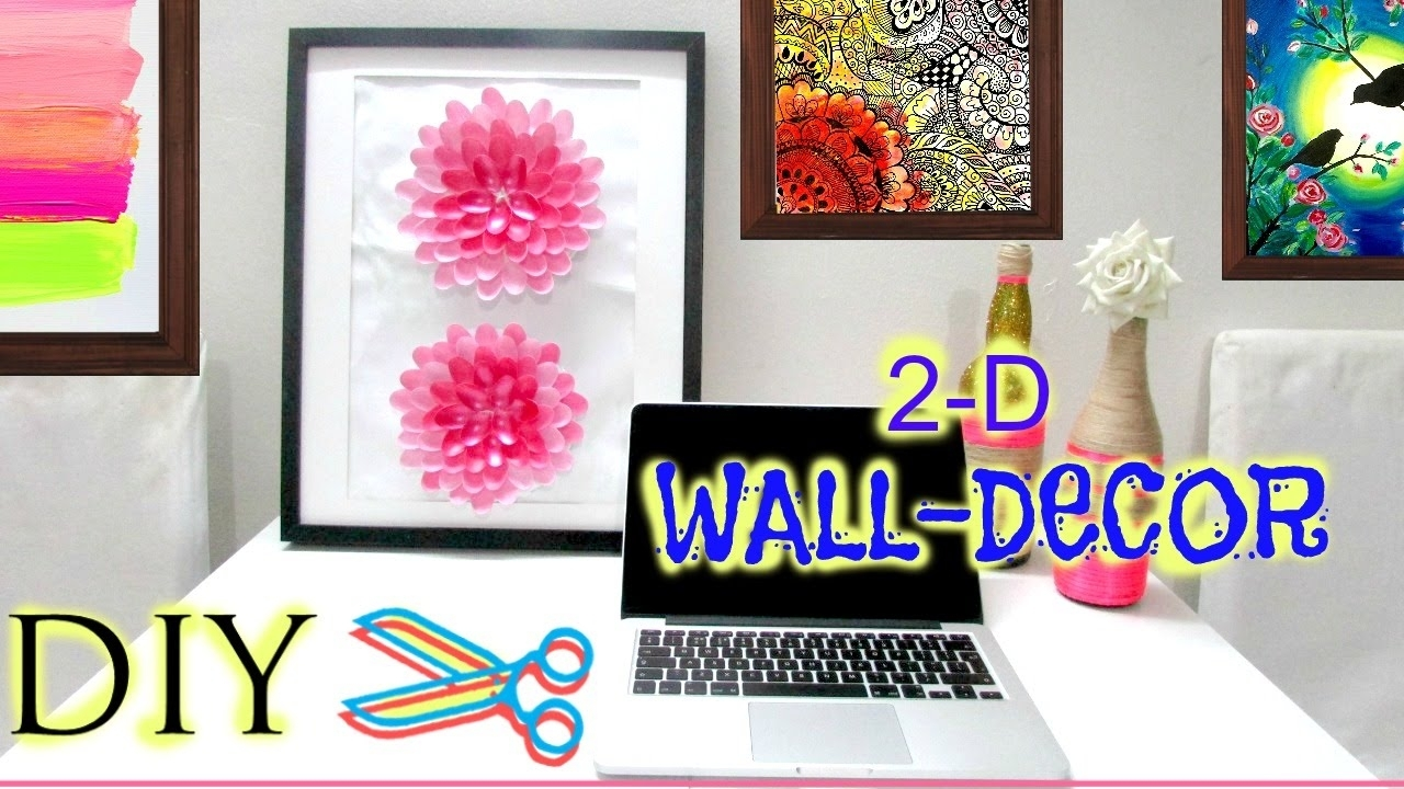 How To Make A 3 D Flower Wall Art (diy) – Youtube In Most Current Diy Fabric Flower Wall Art (View 15 of 15)