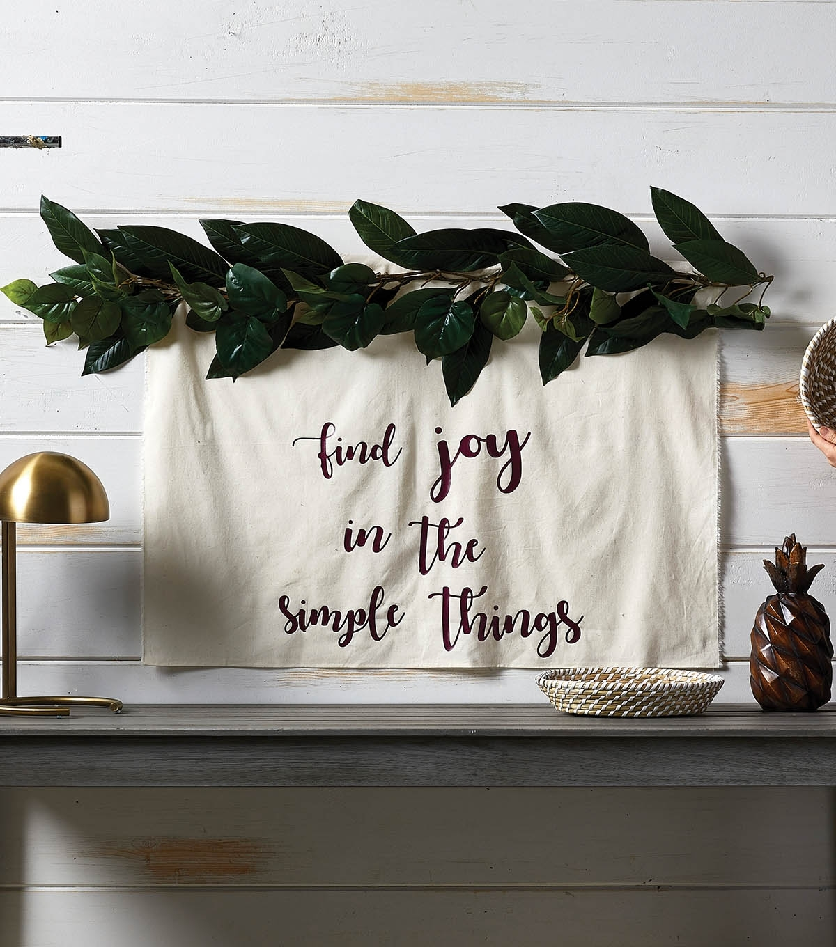How To Make A Garland Wall Art Tapestry | Joann Within 2018 Joann Fabric Wall Art (View 7 of 15)