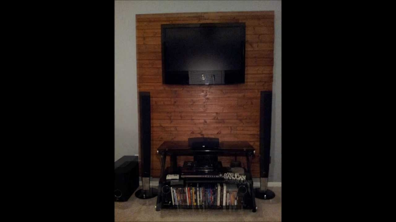 How To Make A Wooden Tv Accent Wall – Youtube With Newest Wall Accents Behind Tv (View 8 of 15)