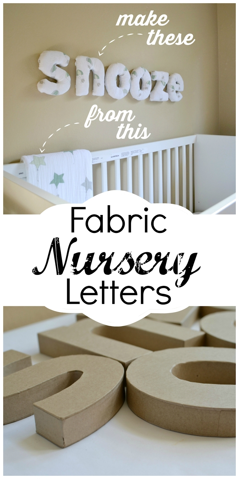 How To Make Easy Diy Fabric Letters For Your Nursery | Fabric In Most Up To Date Fabric Wall Art Letters (View 8 of 15)