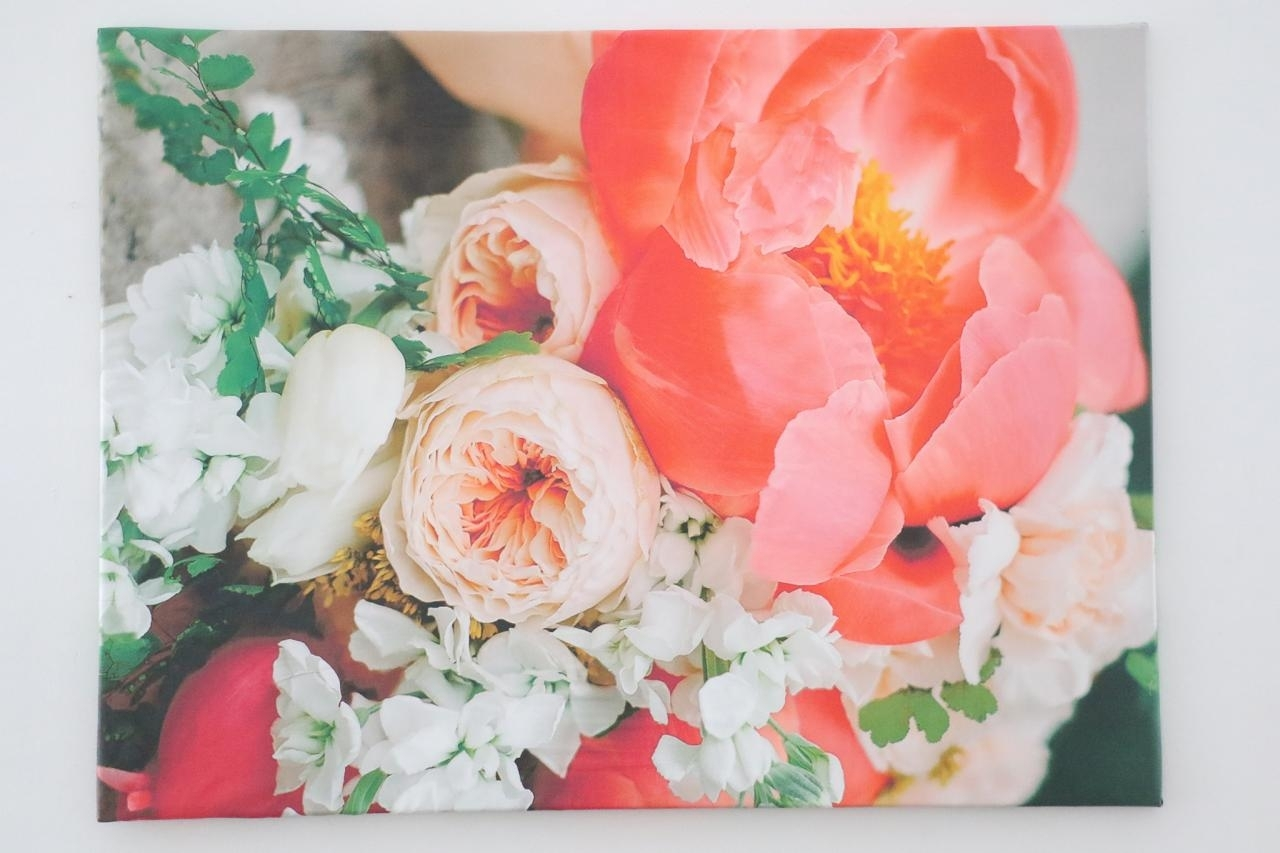 How To Make Fabric Canvas Art | Hgtv Within 2018 Floral Fabric Wall Art (Gallery 15 of 15)