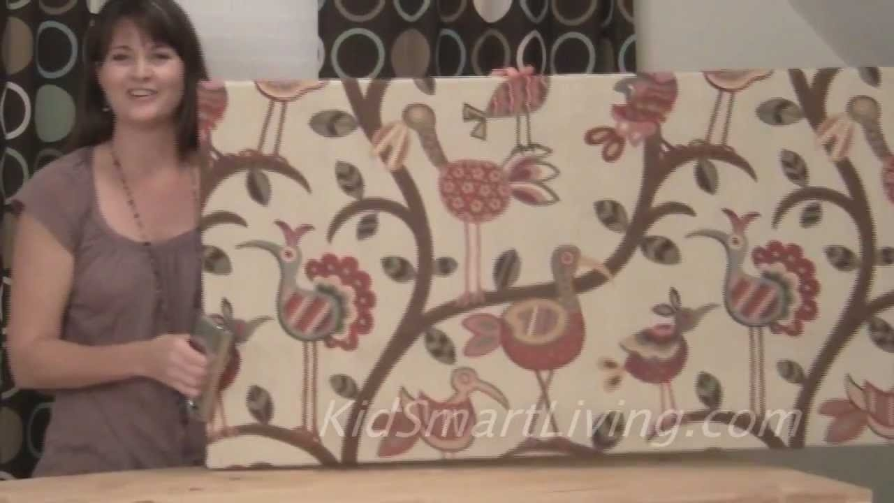 How To Make Fabric Wall Art Panels Home Decorating Diy Project With Current Inexpensive Fabric Wall Art (View 11 of 15)