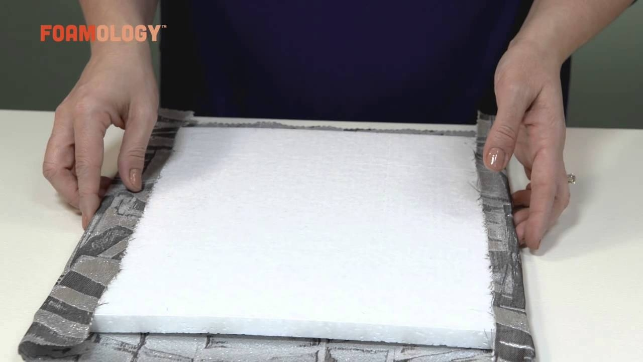 How To Make Fabric Wall Tiles With Rigid Design Foam – Youtube With Regard To Most Recent Fabric Covered Foam Wall Art (Gallery 9 of 15)