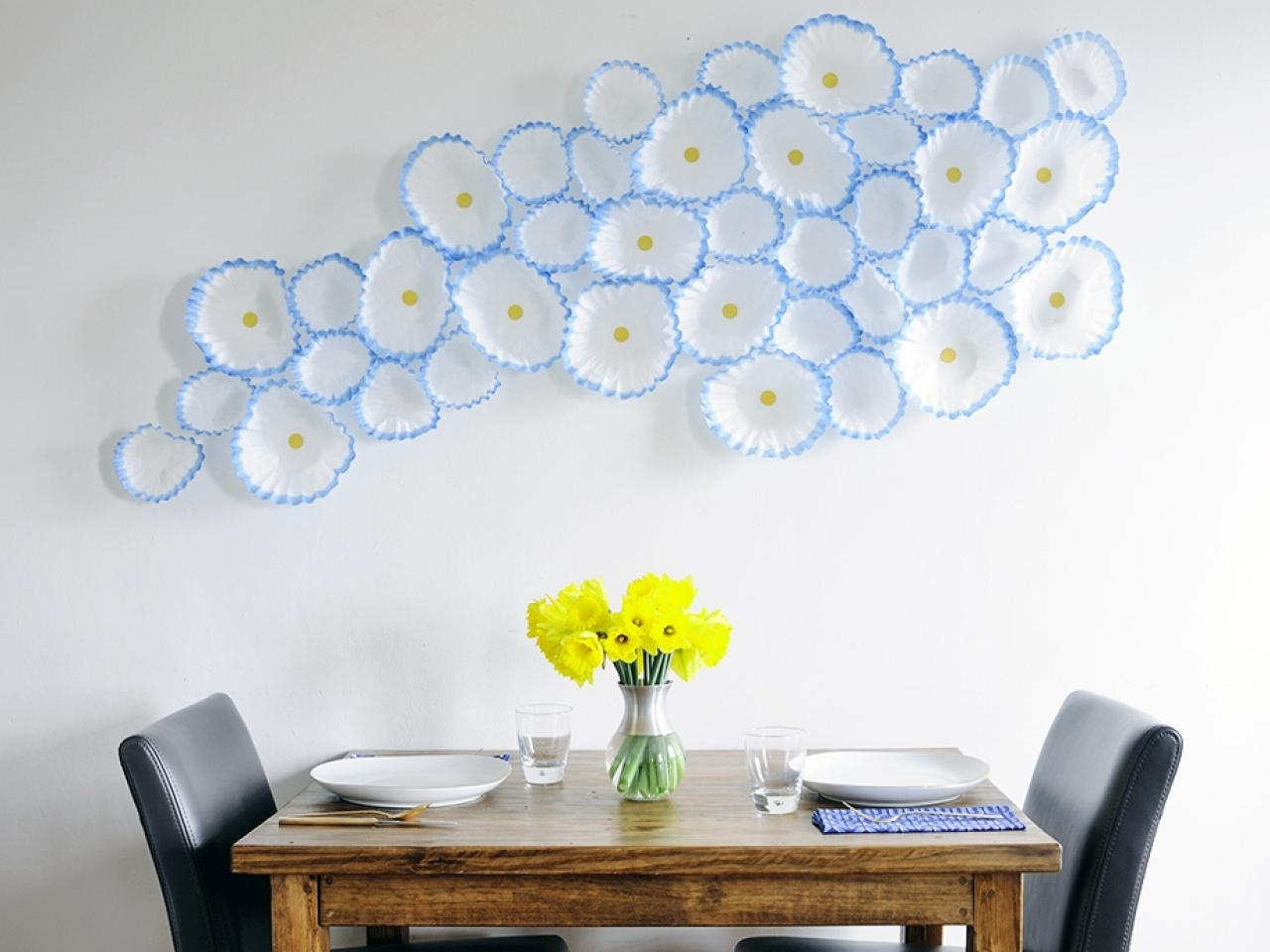 How To Make Floral Wall Art With Coffee Filters | Hgtv Pertaining To Newest Flowers Wall Accents (Gallery 6 of 15)