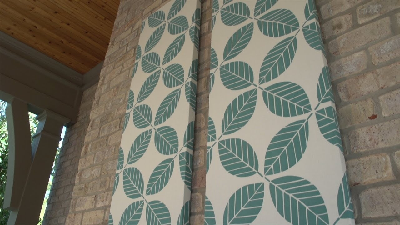 How To Make Outdoor Fabric Wall Art – Youtube For Current Fabric Wall Art Panels (Gallery 1 of 15)