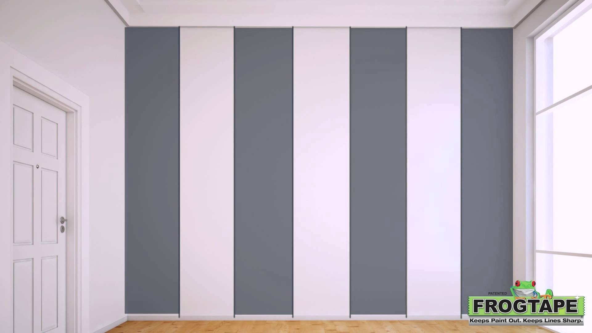 How To Paint Stripes On A Wall – Youtube Intended For Most Up To Date Vertical Stripes Wall Accents (View 10 of 15)