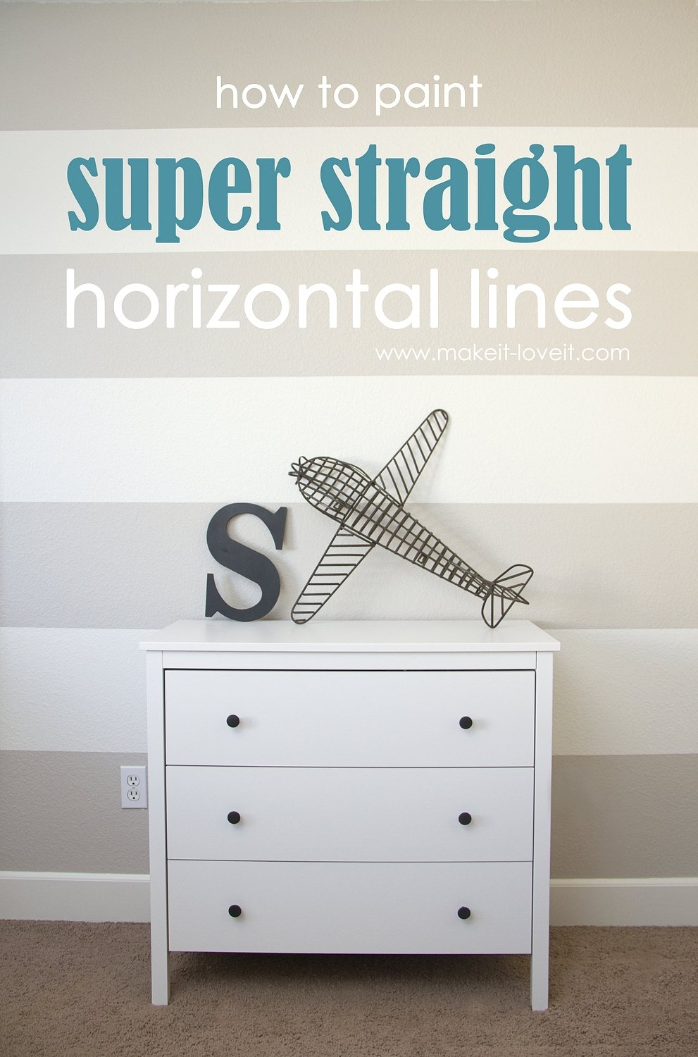 How To Paint {{Super Straight}} Horizontal Stripes | Make It And In Most Up To Date Horizontal Stripes Wall Accents (View 9 of 15)