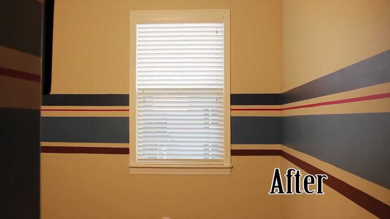 How To Paint Wall Stripes: Nesting The Nursery – Youtube Intended For Best And Newest Vertical Stripes Wall Accents (Gallery 13 of 15)