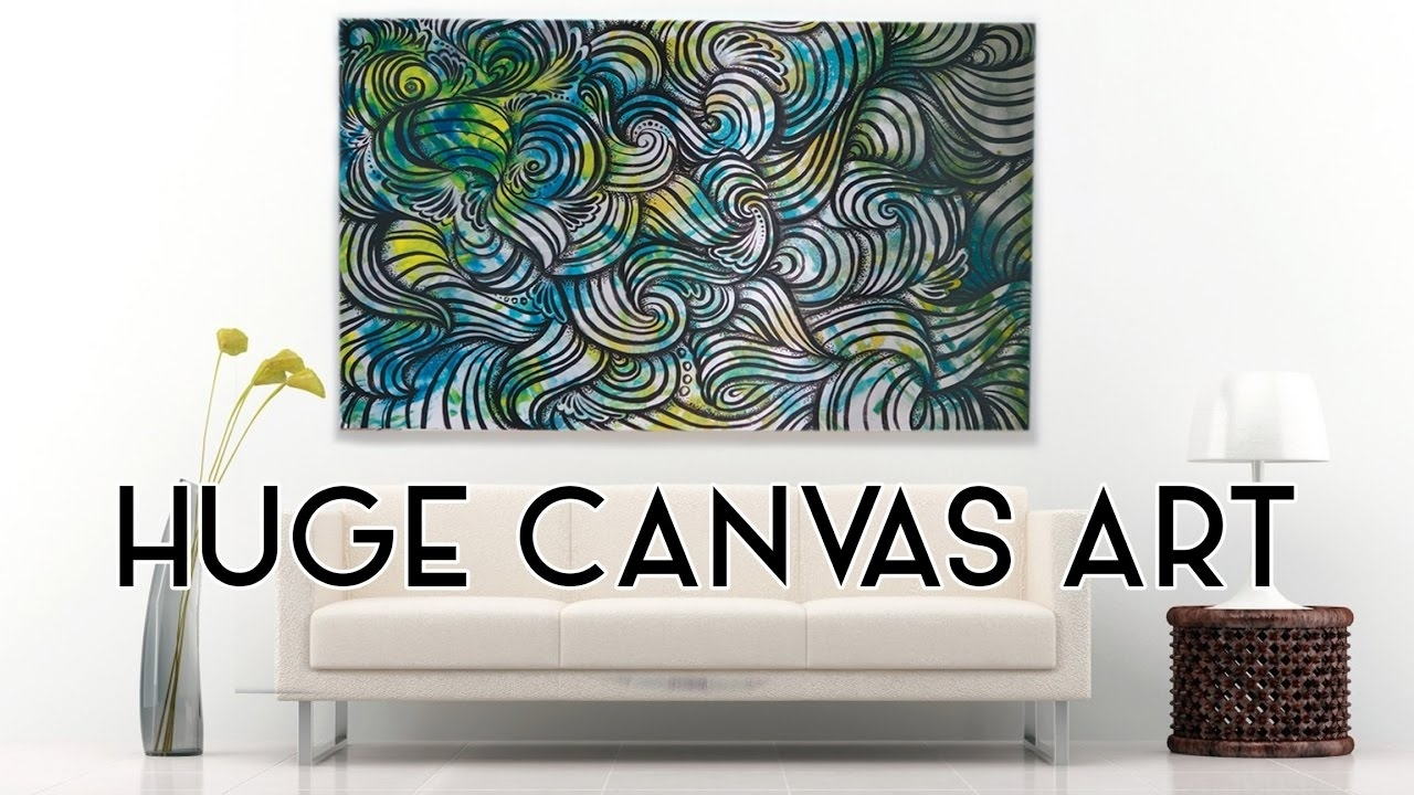 Huge Canvas Paintingelsa Rhae - Youtube intended for Latest Elsa Canvas Wall Art