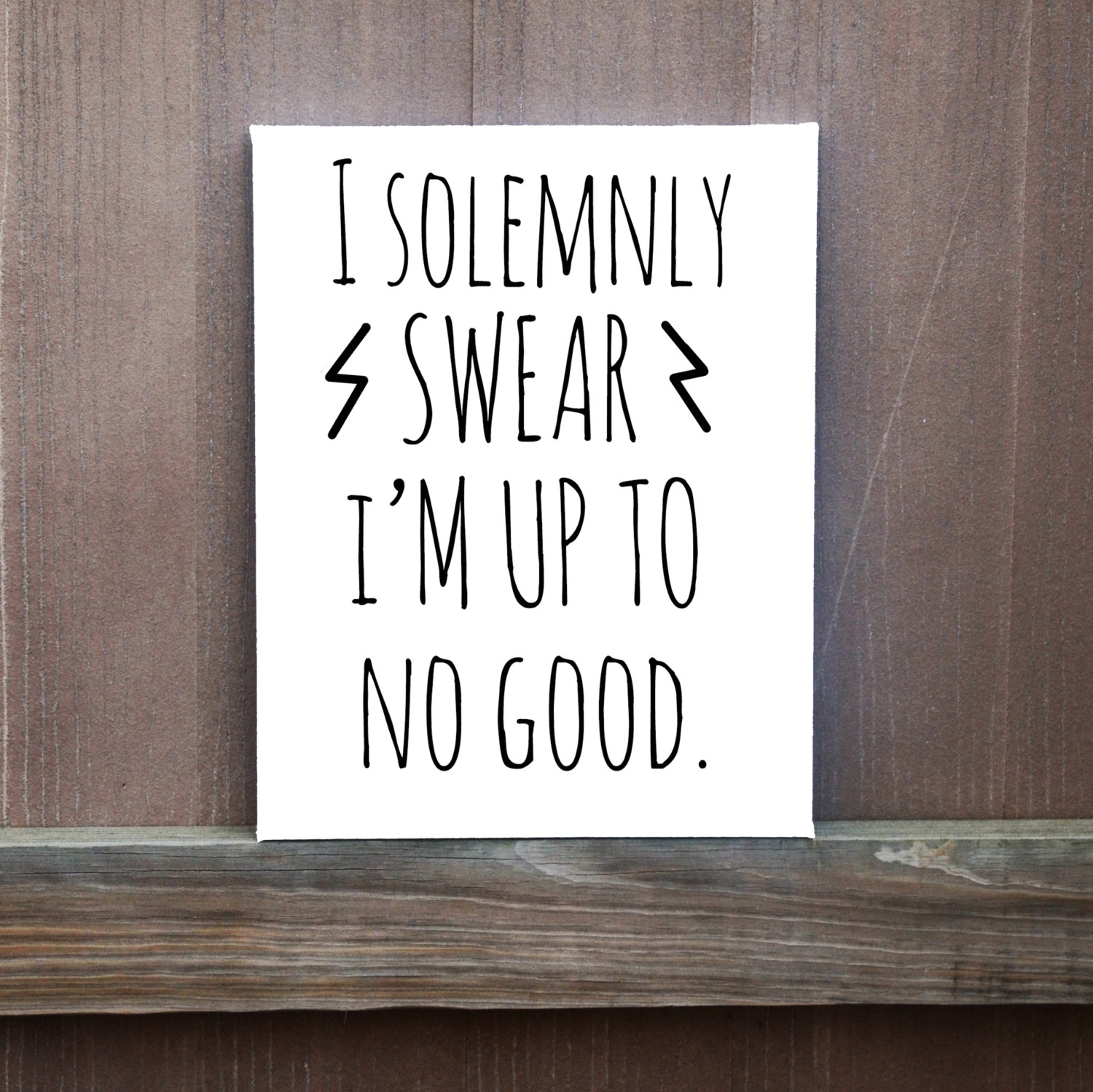 I Solemnly Swear I'm Up To No Good Hand Painted Canvas, Harry With Regard To Newest Custom Quote Canvas Wall Art (View 6 of 15)
