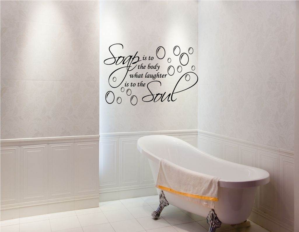 Ideas For Bathroom Wall Decorations • Bathroom Decor Within Current Wall Accents For Bathrooms (View 10 of 15)