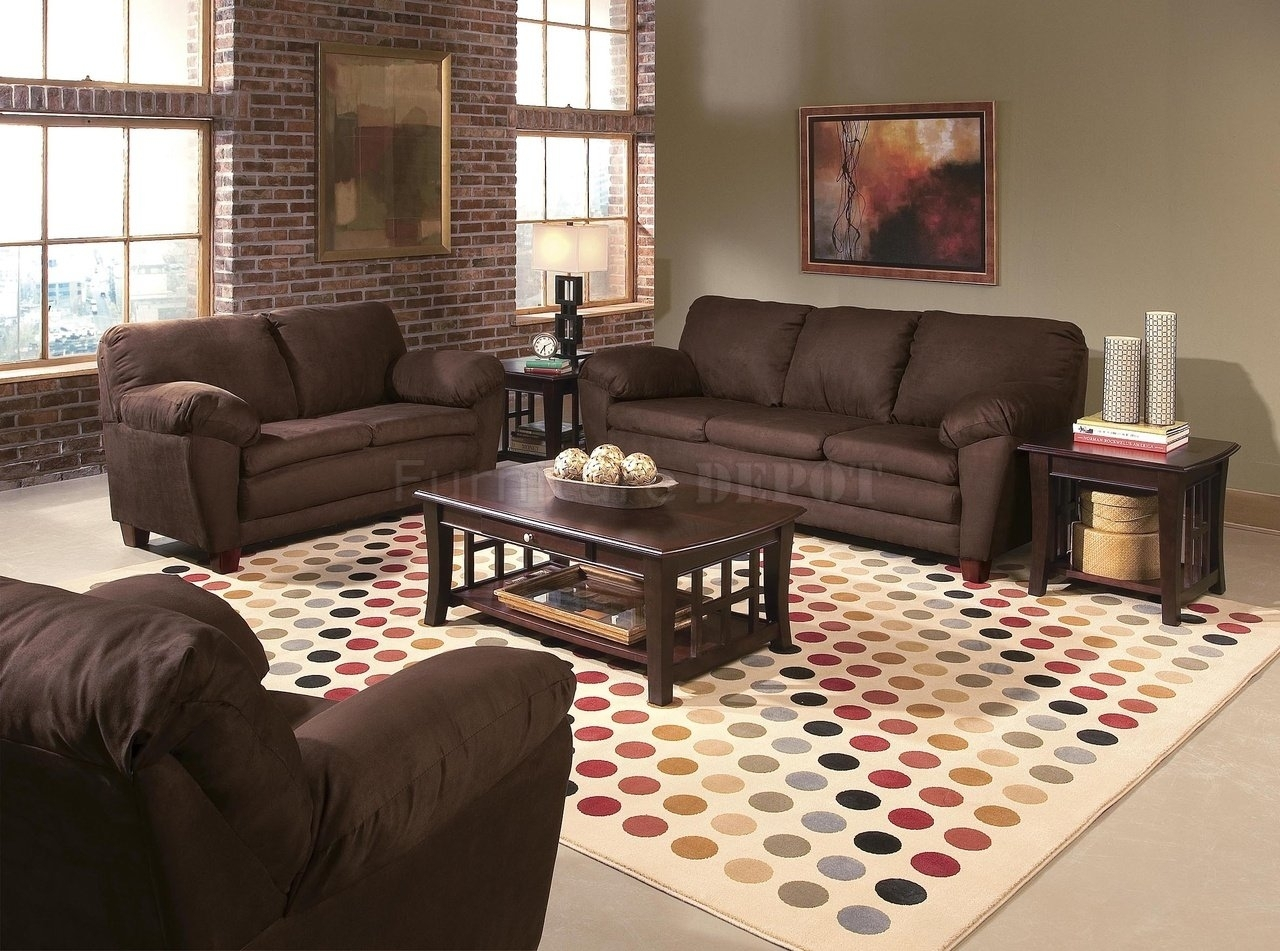 Ideas Living Room With Brown Furniture » Connectorcountry Inside Most Up To Date Brown Couch Wall Accents (View 14 of 15)
