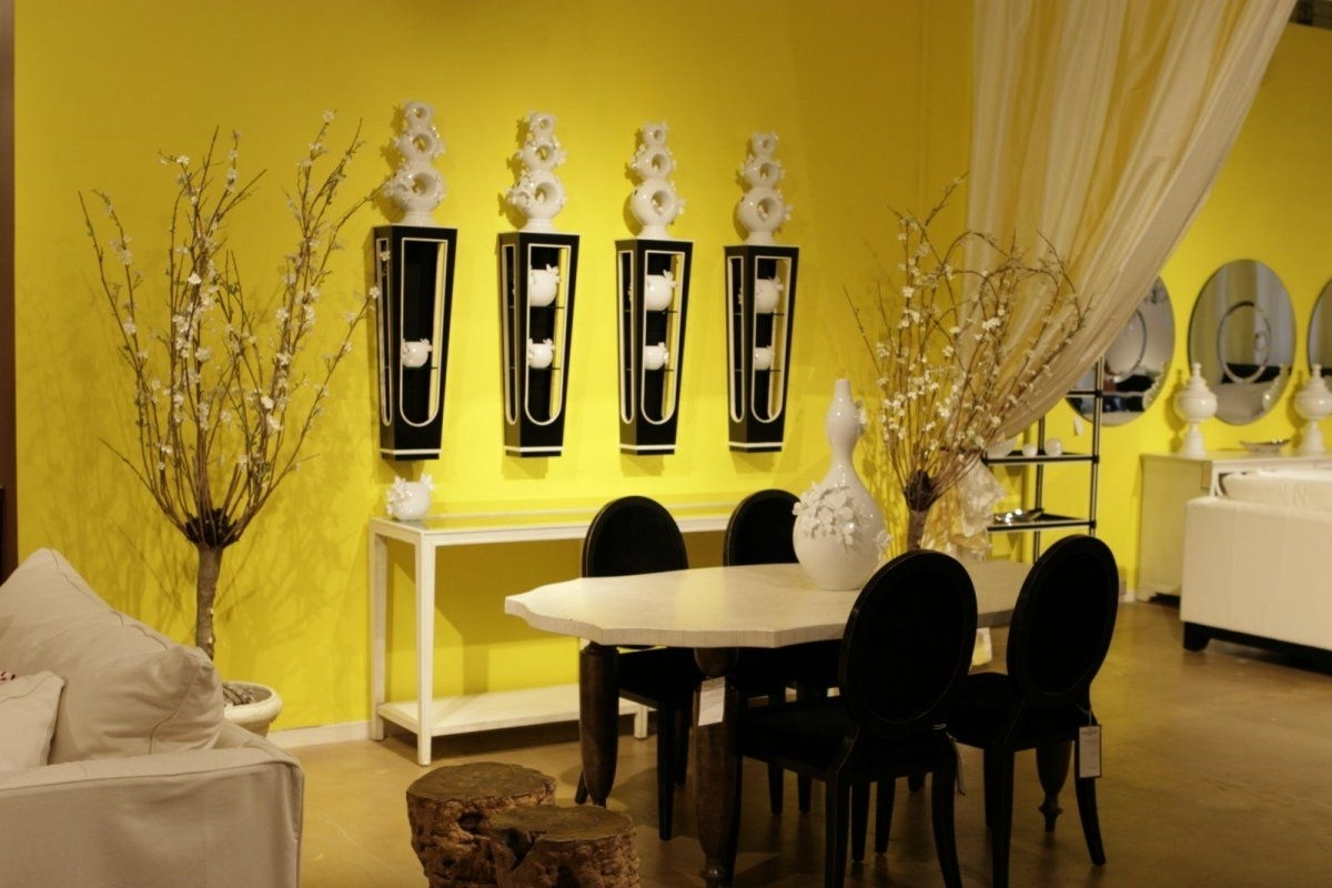 Ideas Unique Wall Decor — Radionigerialagos Pertaining To Current Yellow Wall Accents (Gallery 3 of 15)
