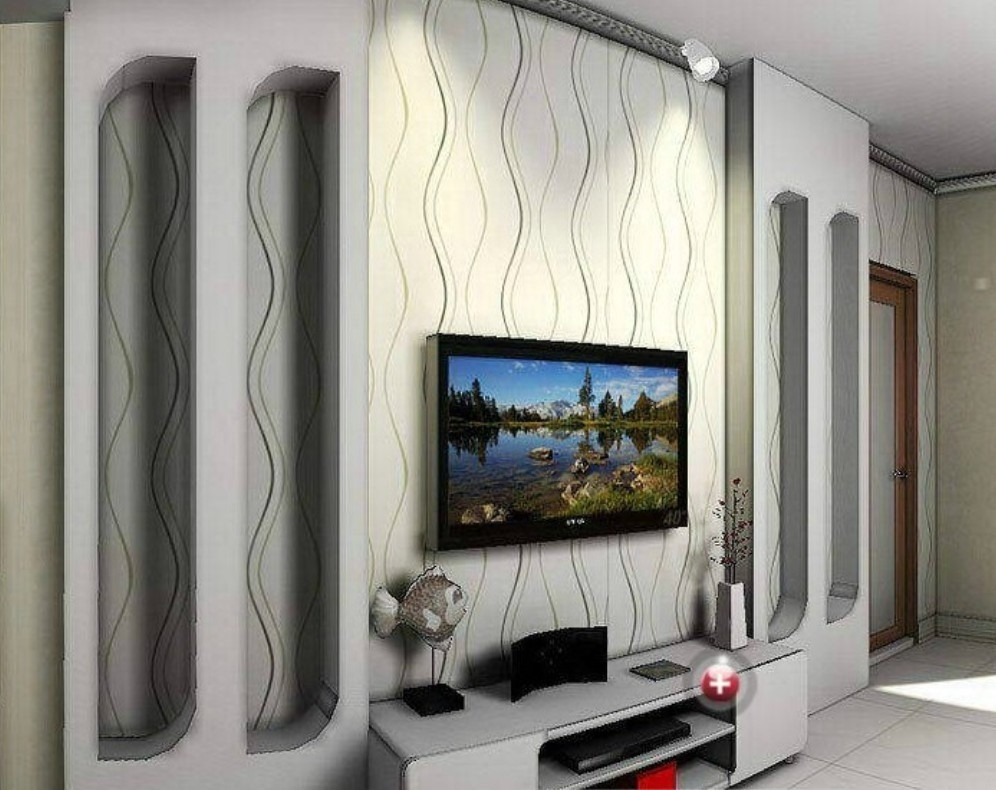 Ideas Yellow Flower Photolpapers Murals Living Room Bedrooml Art Inside Most Recent Wall Accents With Tv (View 6 of 15)