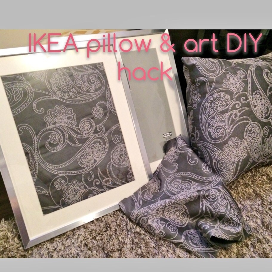 Ikea Diy Hack – How To Turn Fabric Into Wall Art – Jersey Girl Talk For Best And Newest Ikea Fabric Wall Art (View 5 of 15)