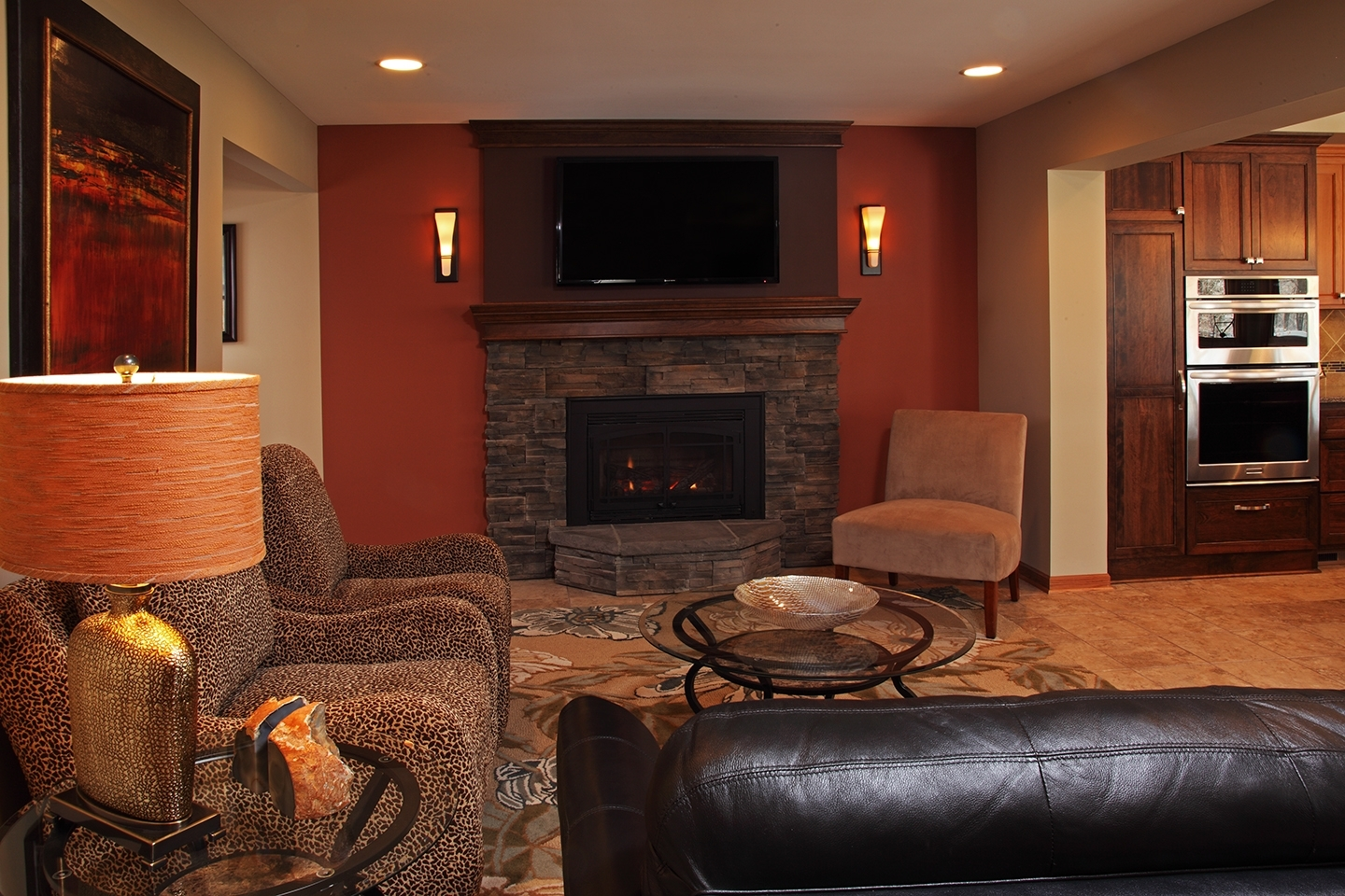 Image Result For Fireplace Tv Wall Sconce | Living Room For 2018 Wall Accents With Tv (View 11 of 15)