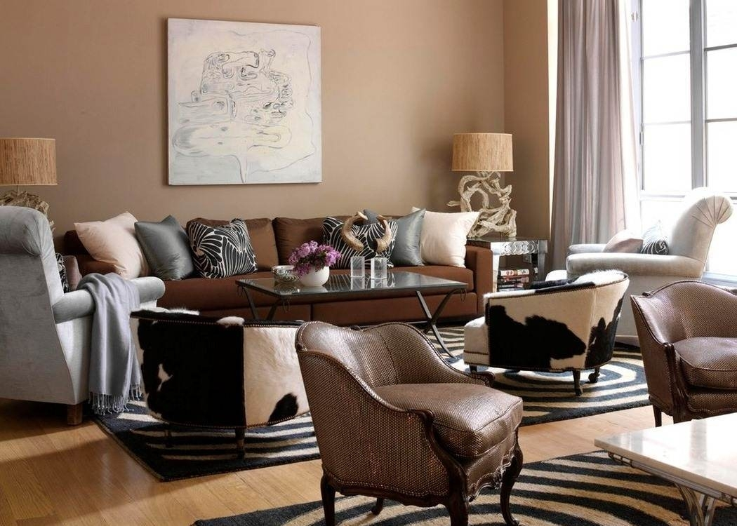 Image Result For What Colour Curtains Go With Brown Sofa And Cream Within Latest Brown Couch Wall Accents (Gallery 10 of 15)
