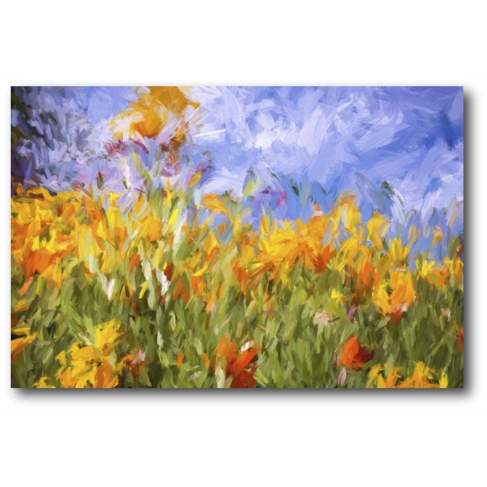 Impasto Poppies Canvas Wall Art Web Sg303B – The Home Depot With Regard To Most Popular Poppies Canvas Wall Art (Gallery 12 of 15)
