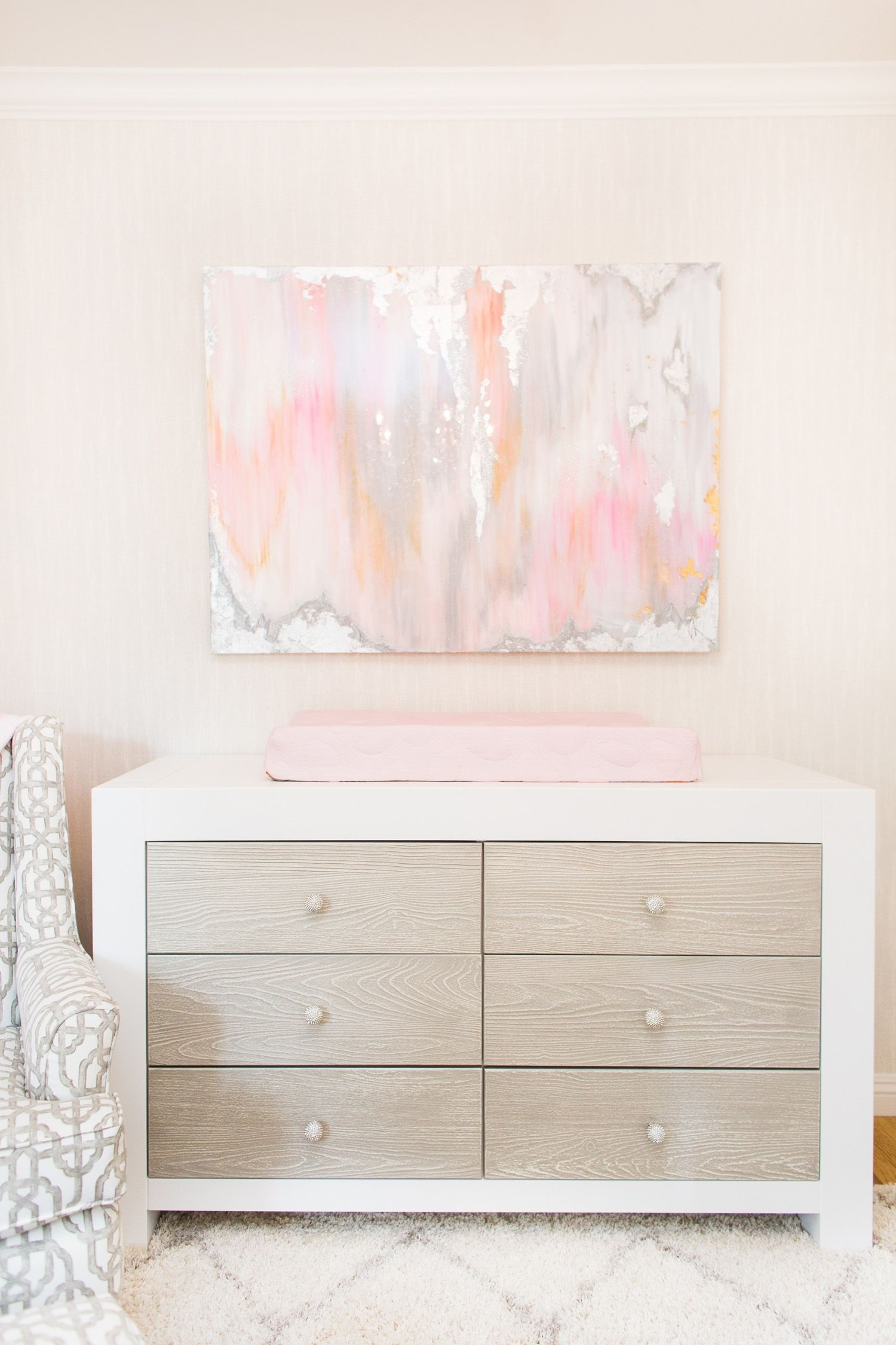 In The Nursery With Ali Fedotowsky | Modern Nurseries, Nursery Art With 2017 Modern Nursery Canvas Wall Art (View 6 of 15)