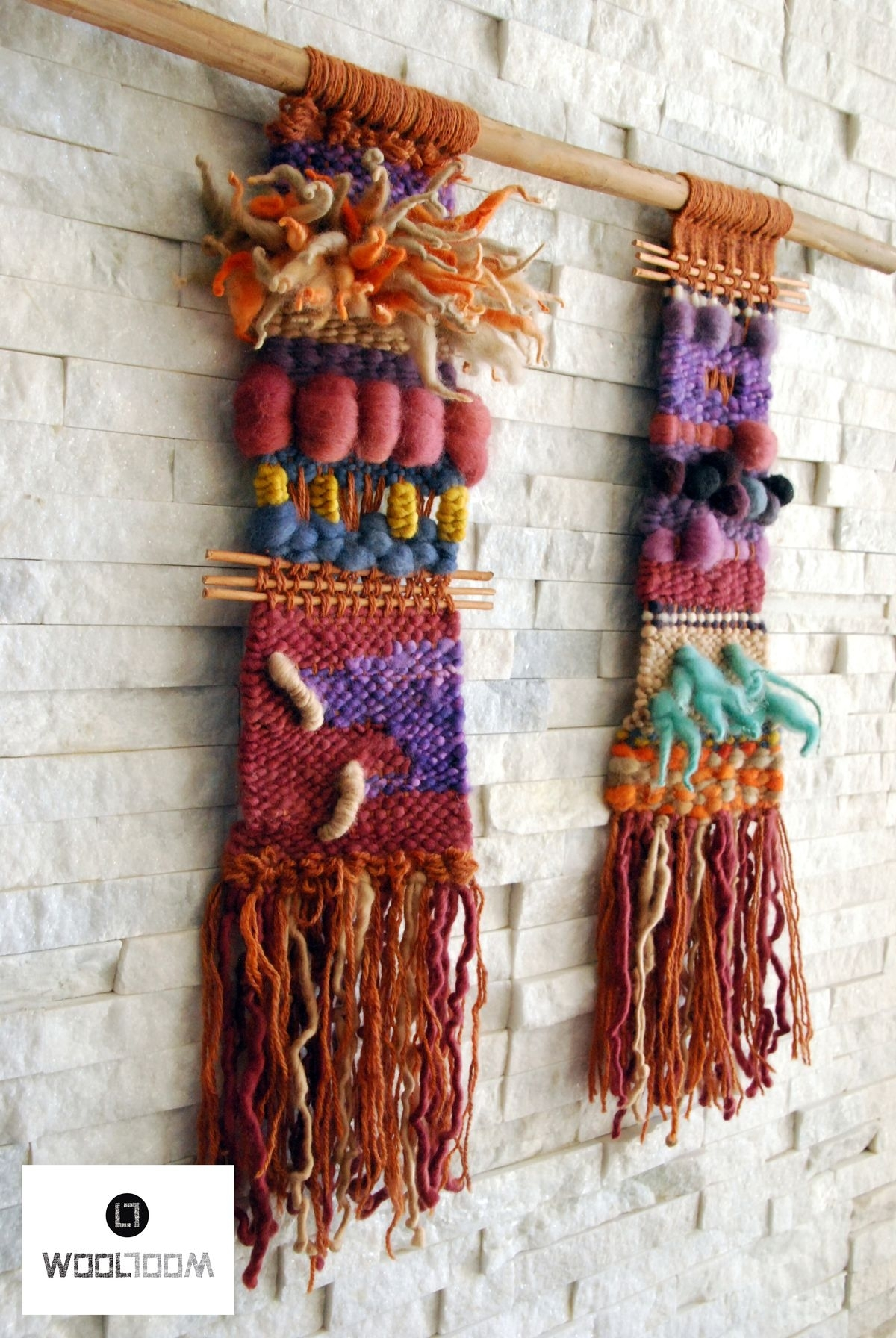 Inca – Hand Woven Wall Hanging // Weaving // Telar Decorativo Made With Latest Woven Textile Wall Art (View 12 of 15)