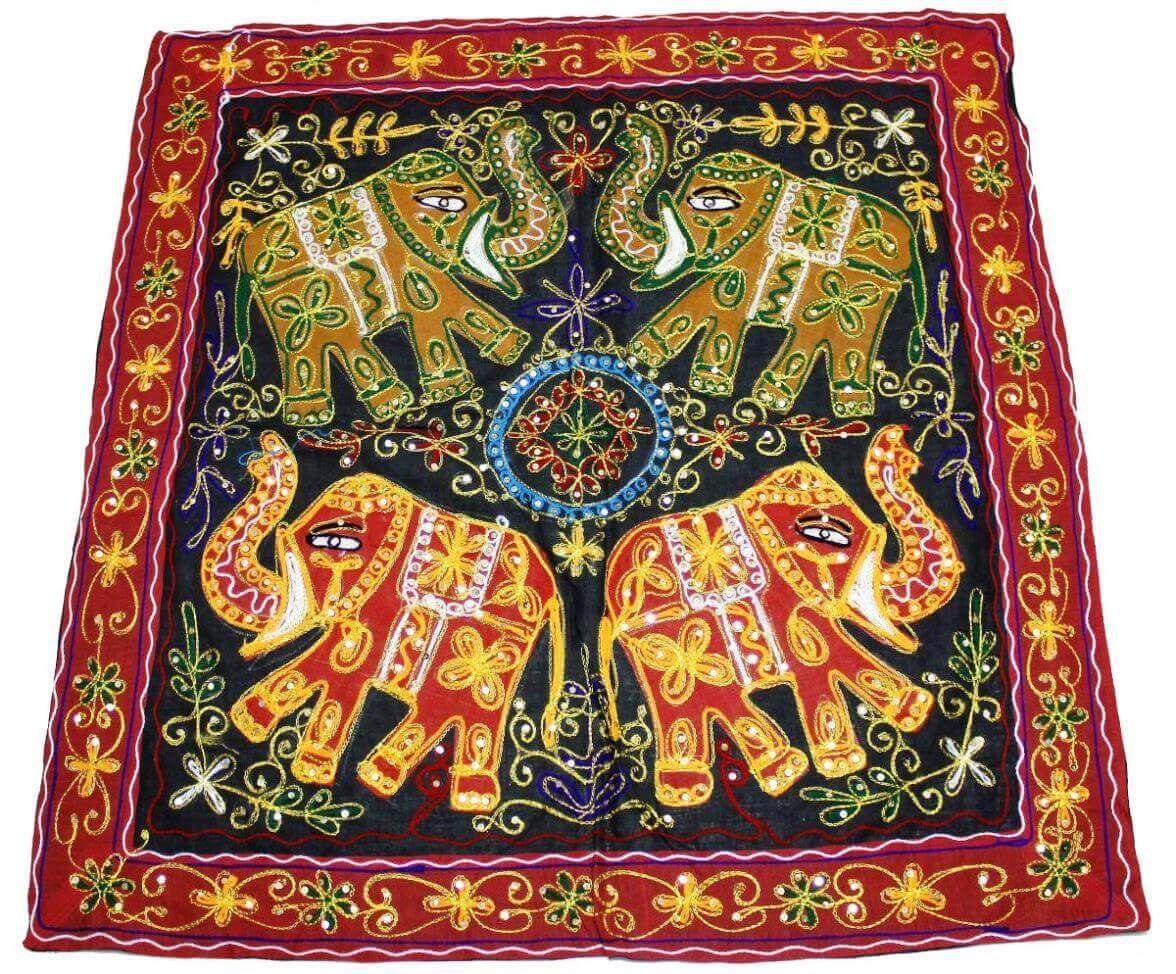 Indian Elephant Tapestry Wall Hanging These Embroidered Wall Pertaining To Most Up To Date Indian Fabric Art Wall Hangings (Gallery 7 of 15)