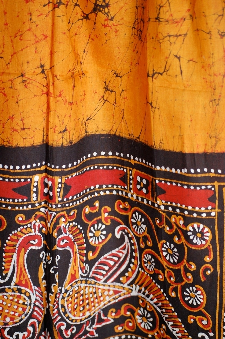 Indian Fabric | Indian Batik Fabric Scarf Hangingmetaphor1001 With 2017 Batik Fabric Wall Art (Gallery 10 of 15)