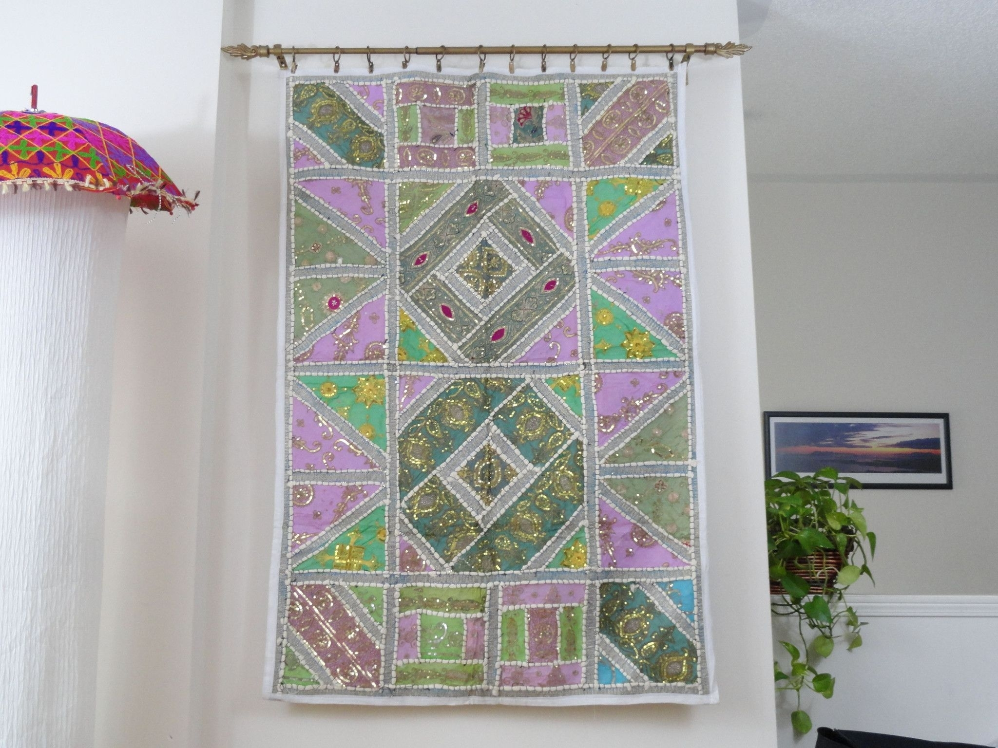 Indian Tapestry Wall Hanging. Fabric Wall Tapestry (View 4 of 15)
