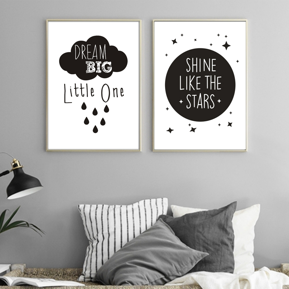 Inspirational Love Quotations Canvas Painting Poster Printable Inside 2018 Modern Nursery Canvas Wall Art (View 7 of 15)