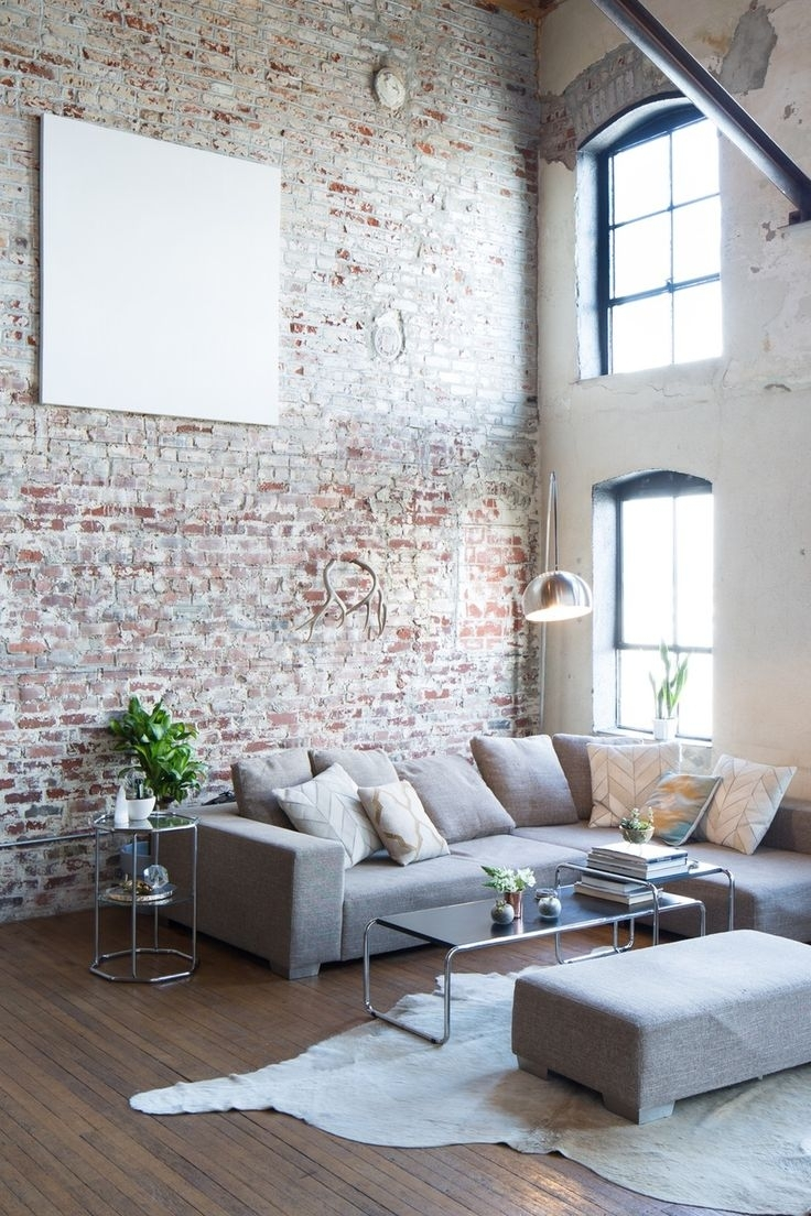 Interior : Exposed Brick Walls Accent Apartment Interior Studio Throughout Most Up To Date Exposed Brick Wall Accents (View 2 of 15)