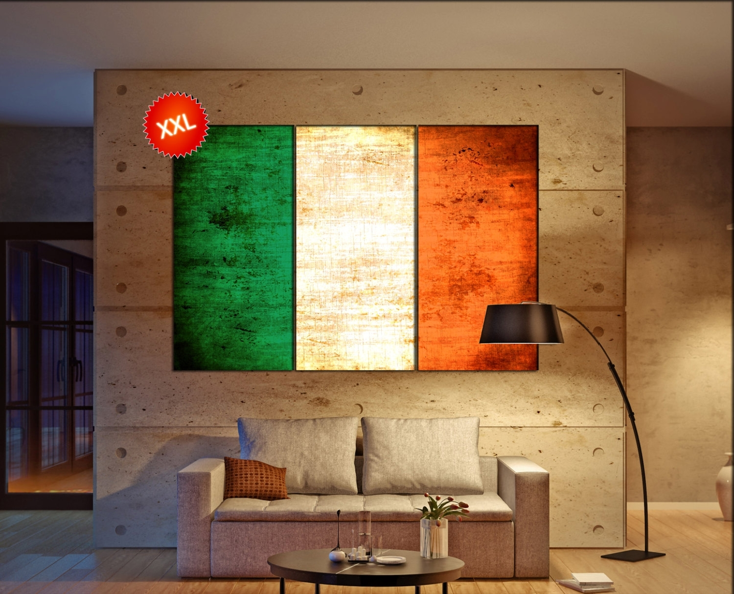 Ireland Flag Canvas Wall Art Art Print Large Canvas Wall Art Print With Most Popular Ireland Canvas Wall Art (Gallery 4 of 15)