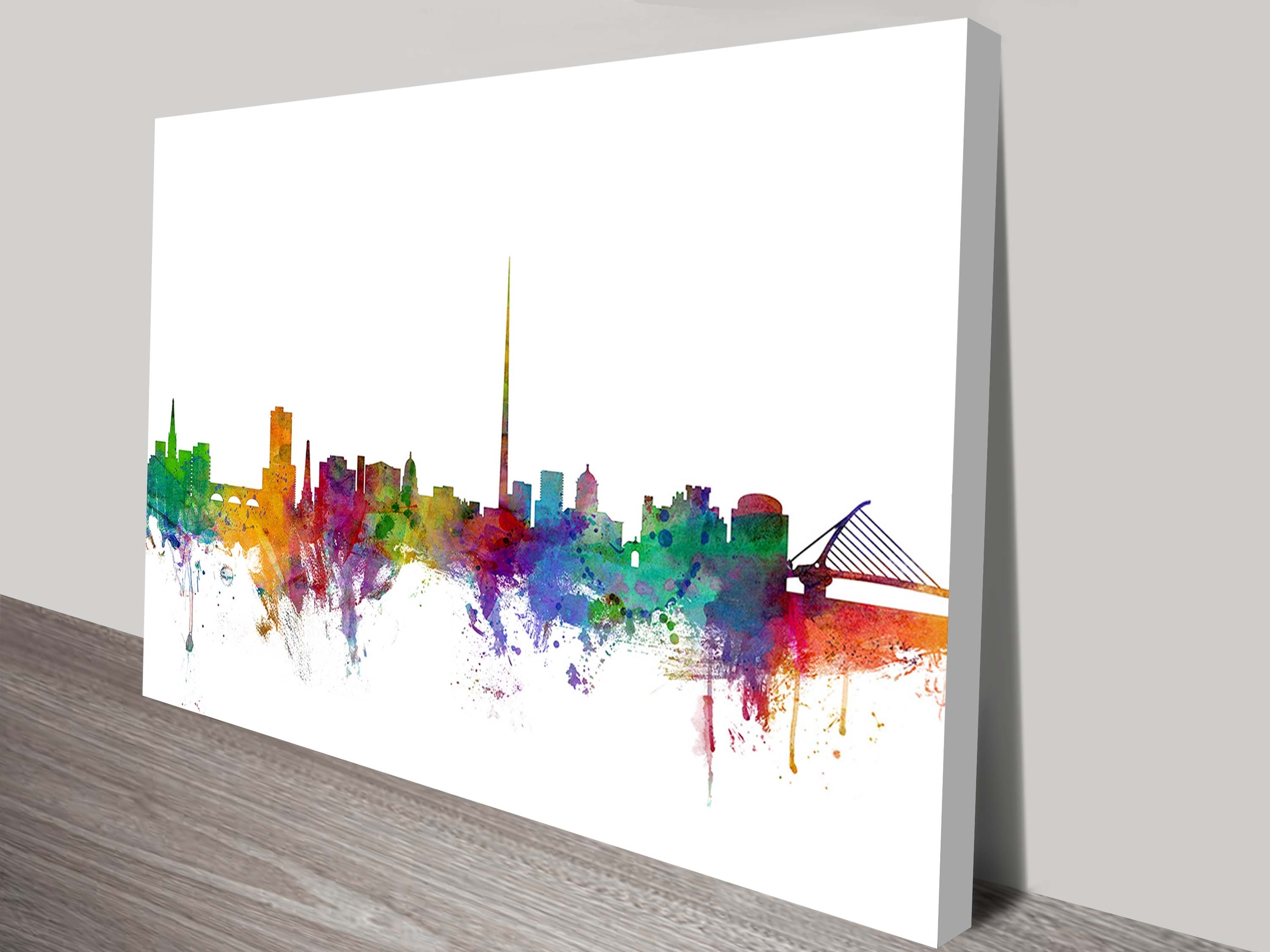 Ireland Skyline Art Printmichael Tompsett Inside Current Dublin Canvas Wall Art (Gallery 1 of 15)