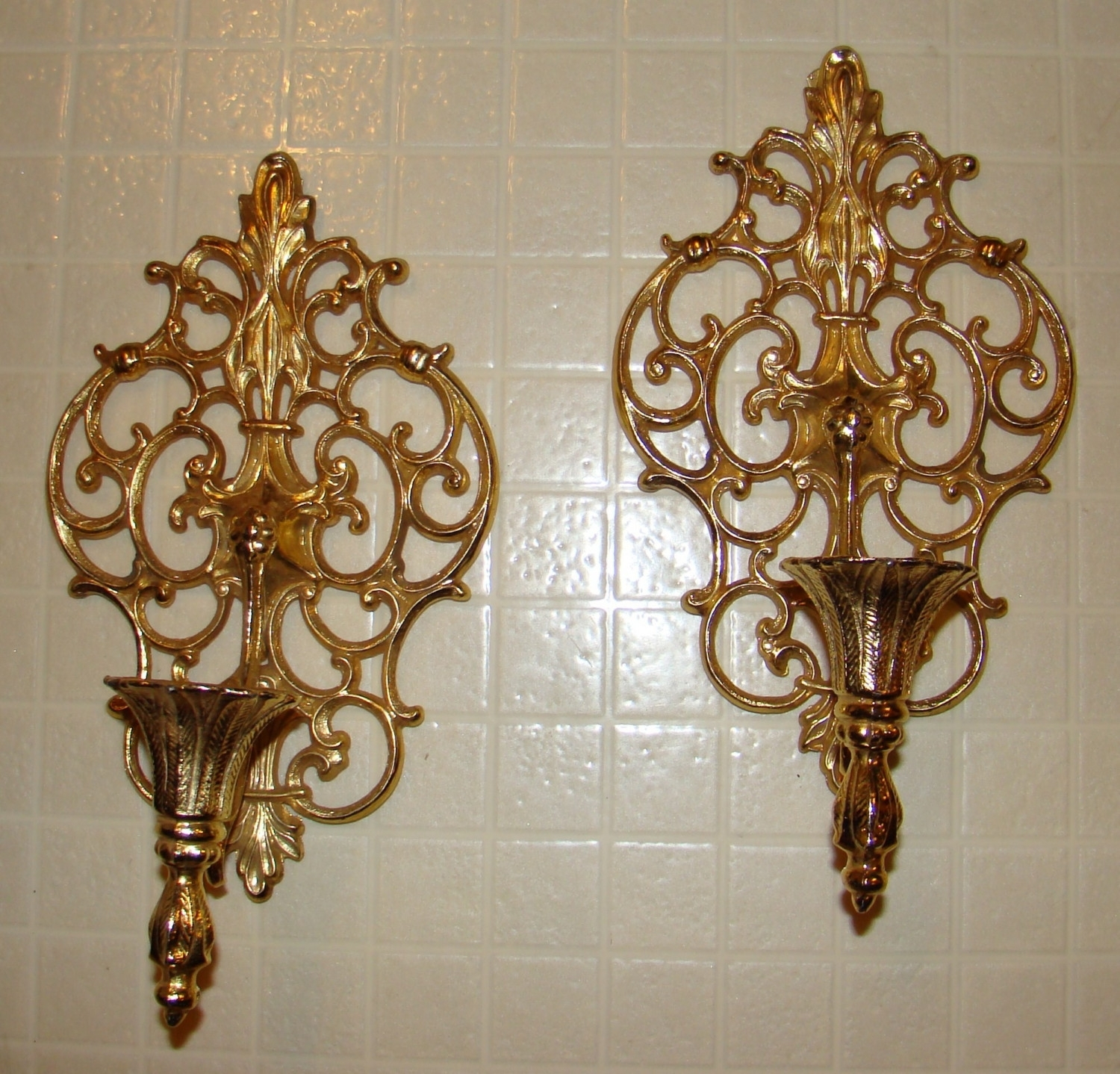 Iron Scroll Wall Decor Cafe | Home Decor And Design Regarding Latest Gold Wall Accents (View 8 of 15)