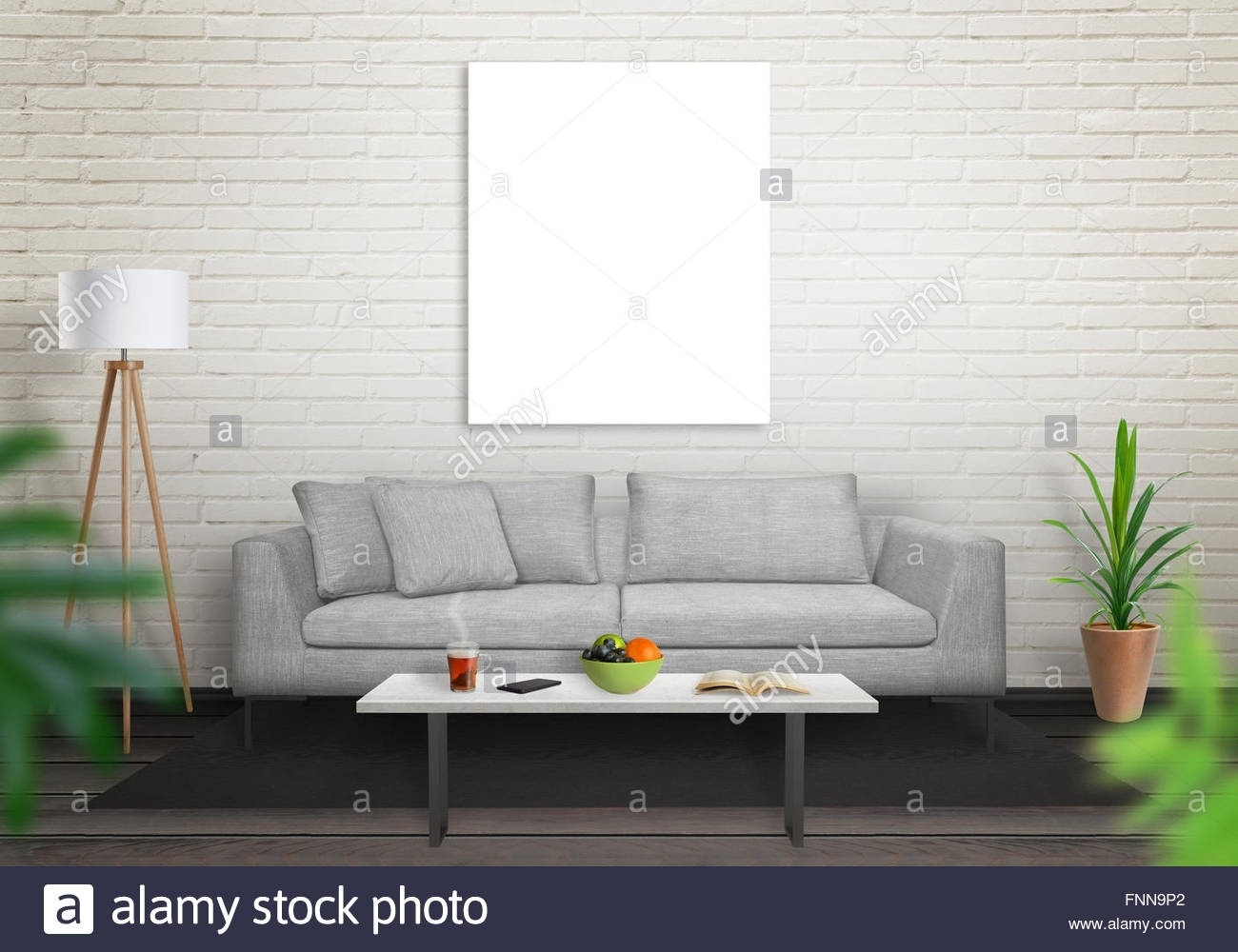Isolated Art Canvas In Living Room For Mockup (View 11 of 15)