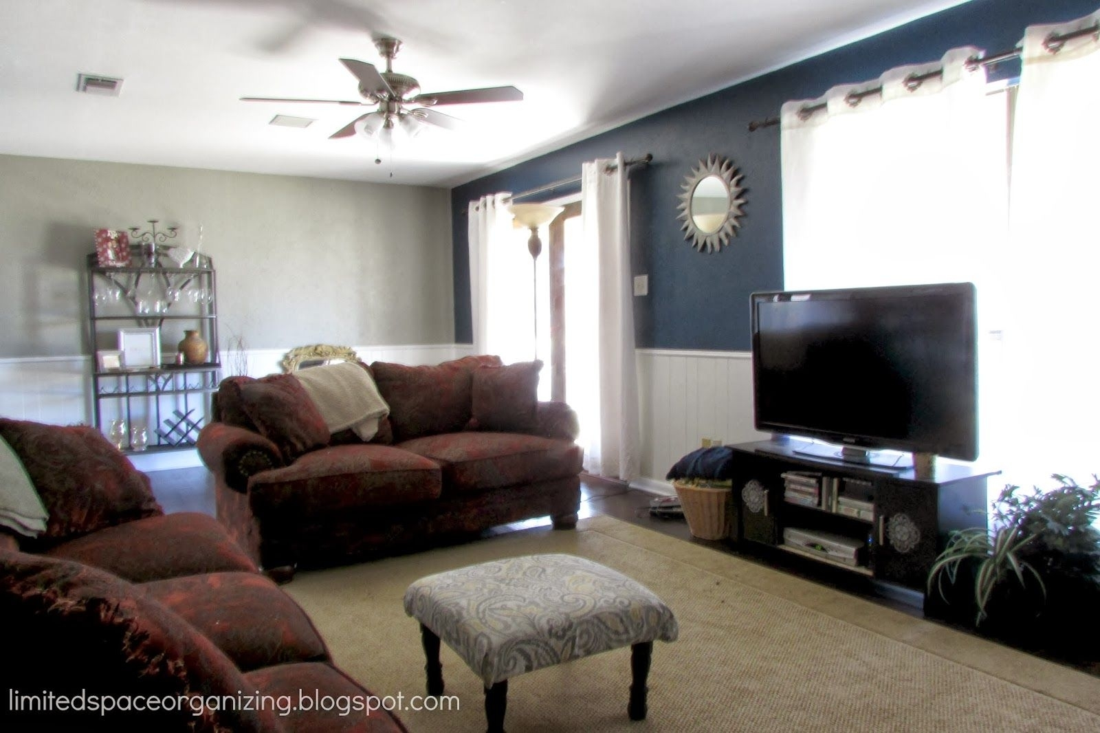 It Goes Perfectly With The Navy Blue And White Wainscoting For Best And Newest Wall Accents For Blue Room (View 7 of 15)