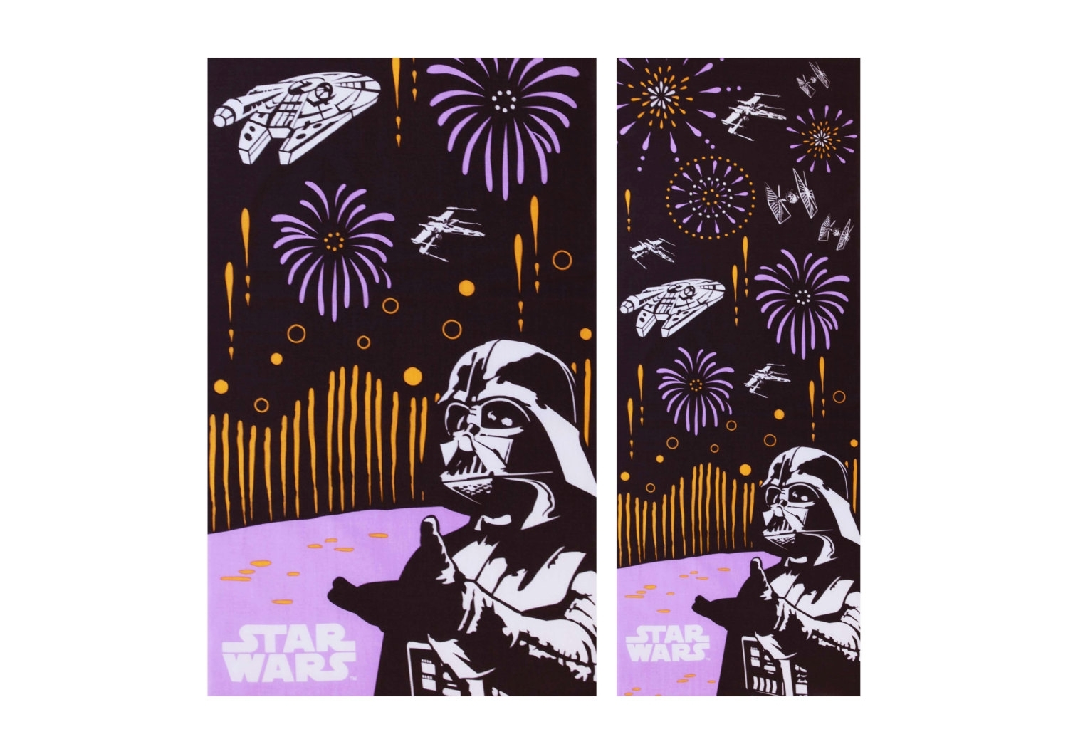 Japanese Tenugui Dark Vader Fabric, Whater Fall Tenugui, Kawaii Throughout 2017 Japanese Fabric Wall Art (View 7 of 15)