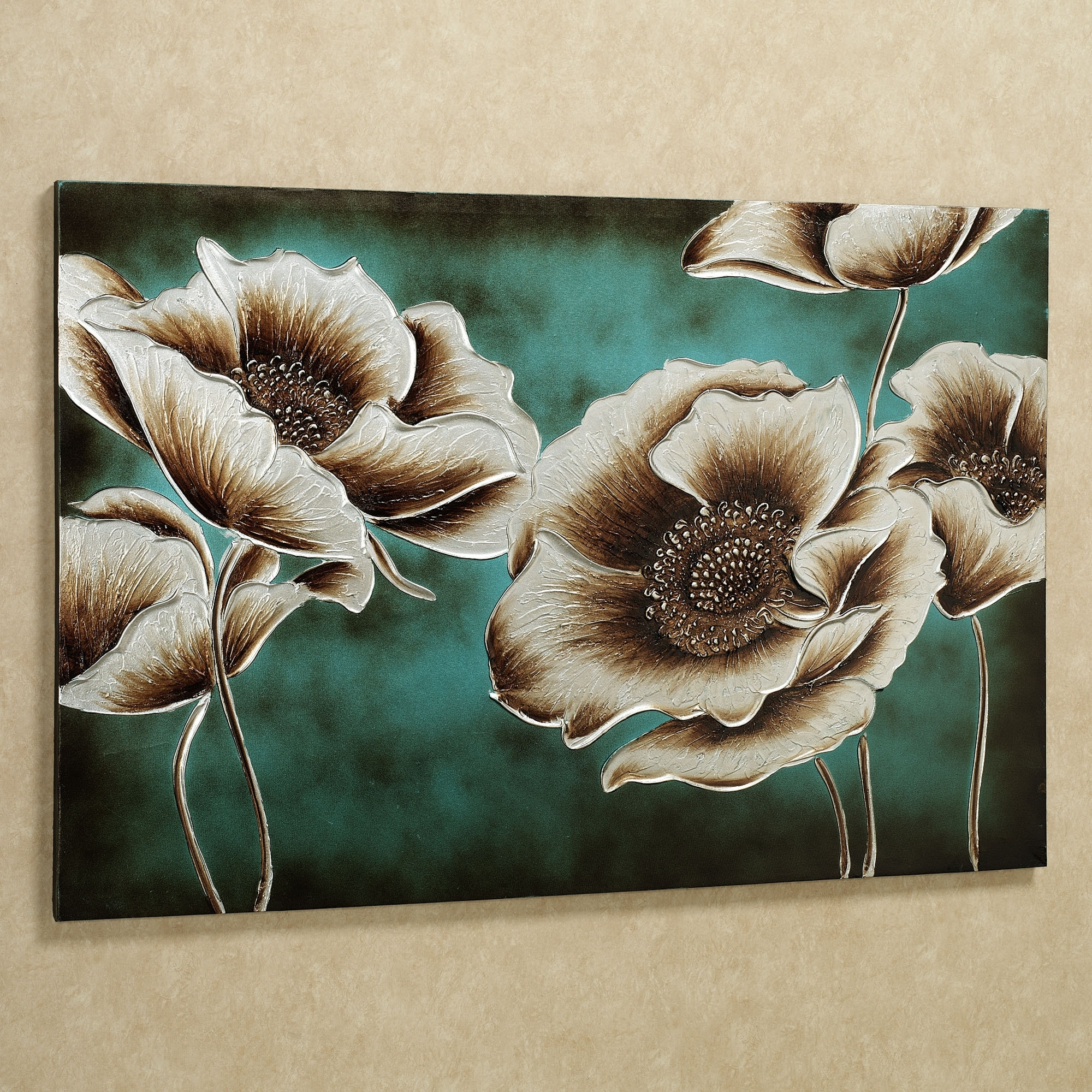 Jardin De Pavot Poppy Flower Canvas Wall Art | Flower Canvas Regarding 2018 Blue And Brown Canvas Wall Art (View 3 of 15)