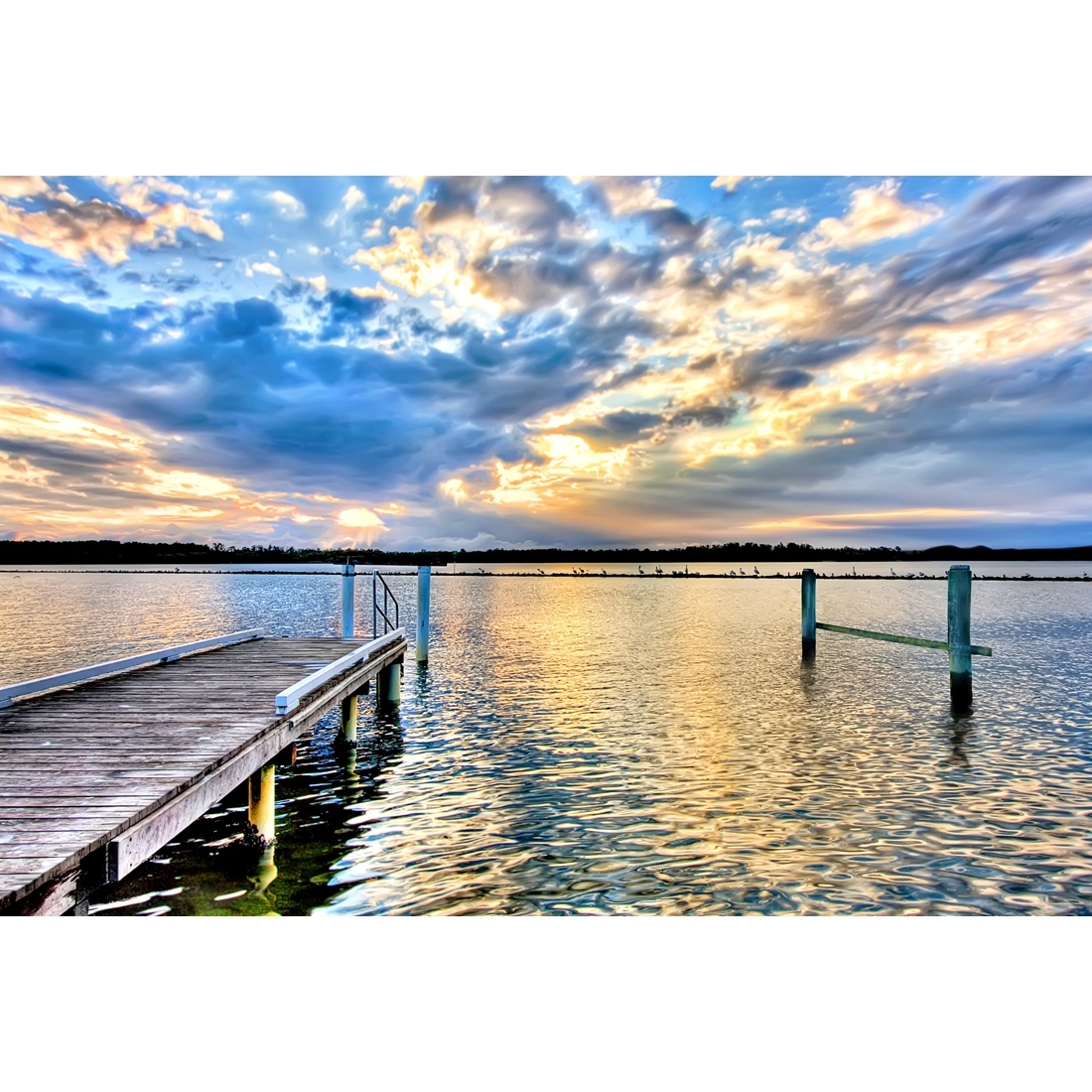 Jetty Sunset – Canvas Print – Wall Art – Australia Throughout Best And Newest Jetty Canvas Wall Art (View 10 of 15)
