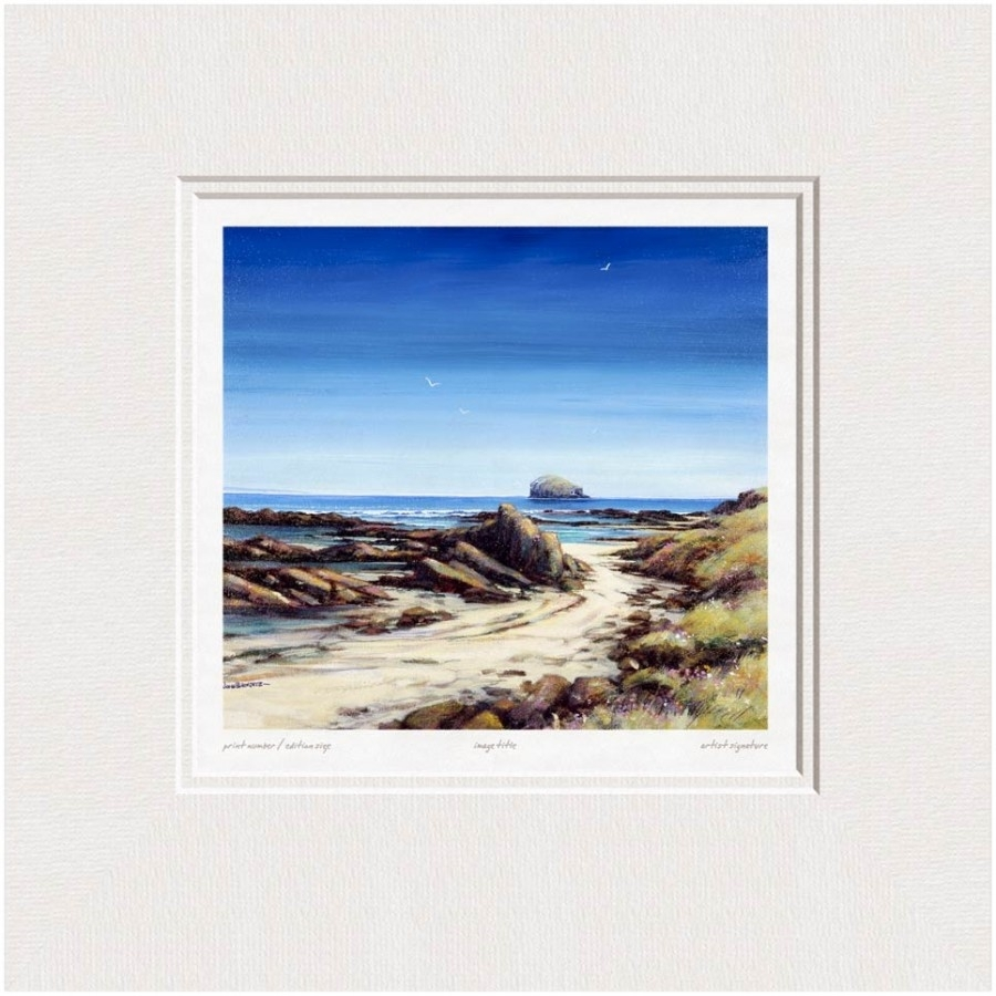 John Bathgate - Bass Rock From The Beach - Limited Edition Giclee with Latest Bass Framed Art Prints