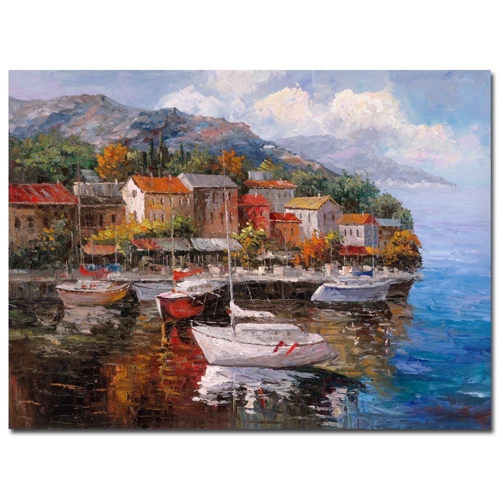 Joval 'at Sea' Canvas Wall Art - Free Shipping Today - Overstock inside Latest Joval Canvas Wall Art
