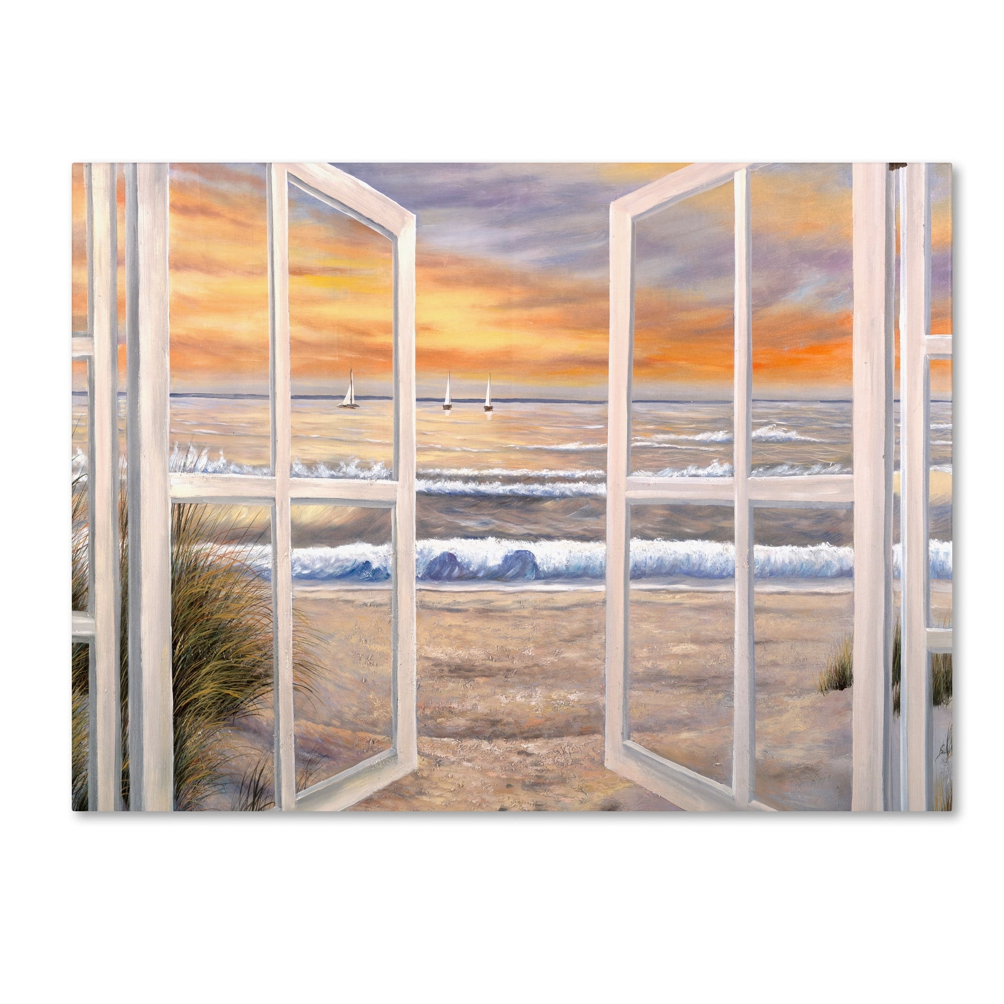 Joval 'elongated Window On Canvas' Canvas Wall Art – Free Shipping Intended For Most Popular Joval Canvas Wall Art (View 2 of 15)
