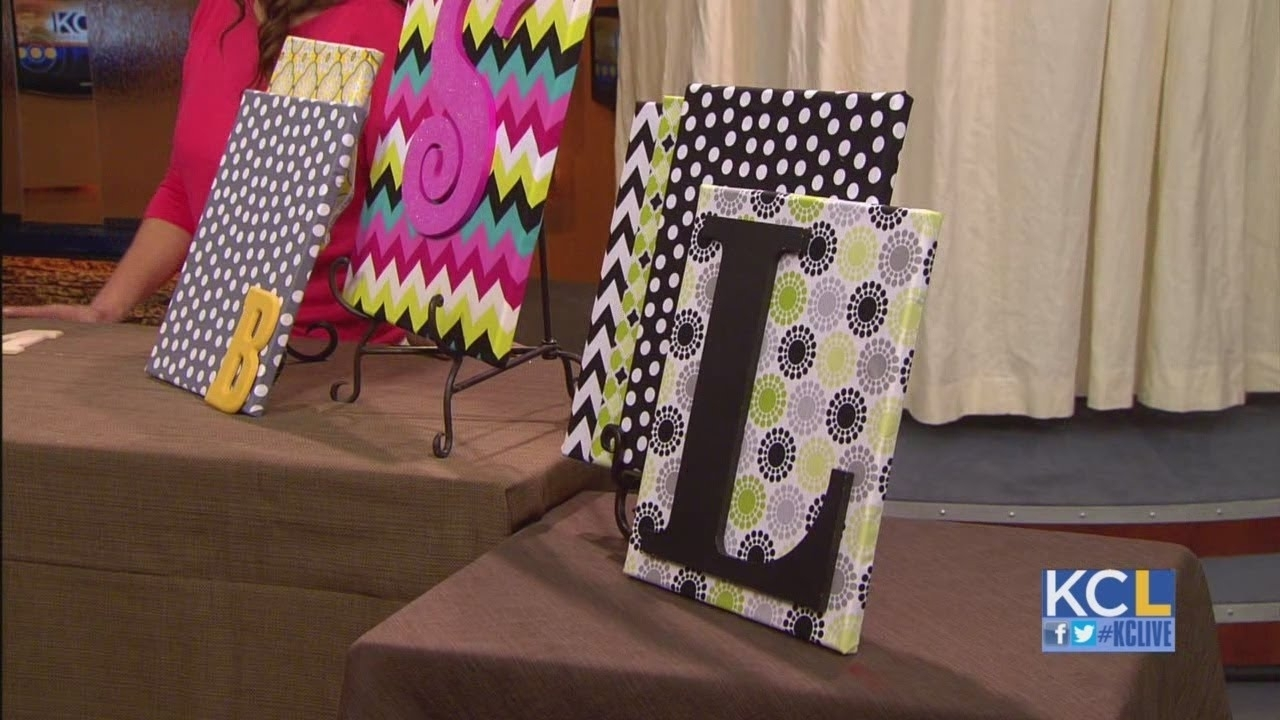 Kcl – How To Make Custom Fabric Wall Art On A Dime – Youtube For Most Recent Foam Fabric Wall Art (View 7 of 15)