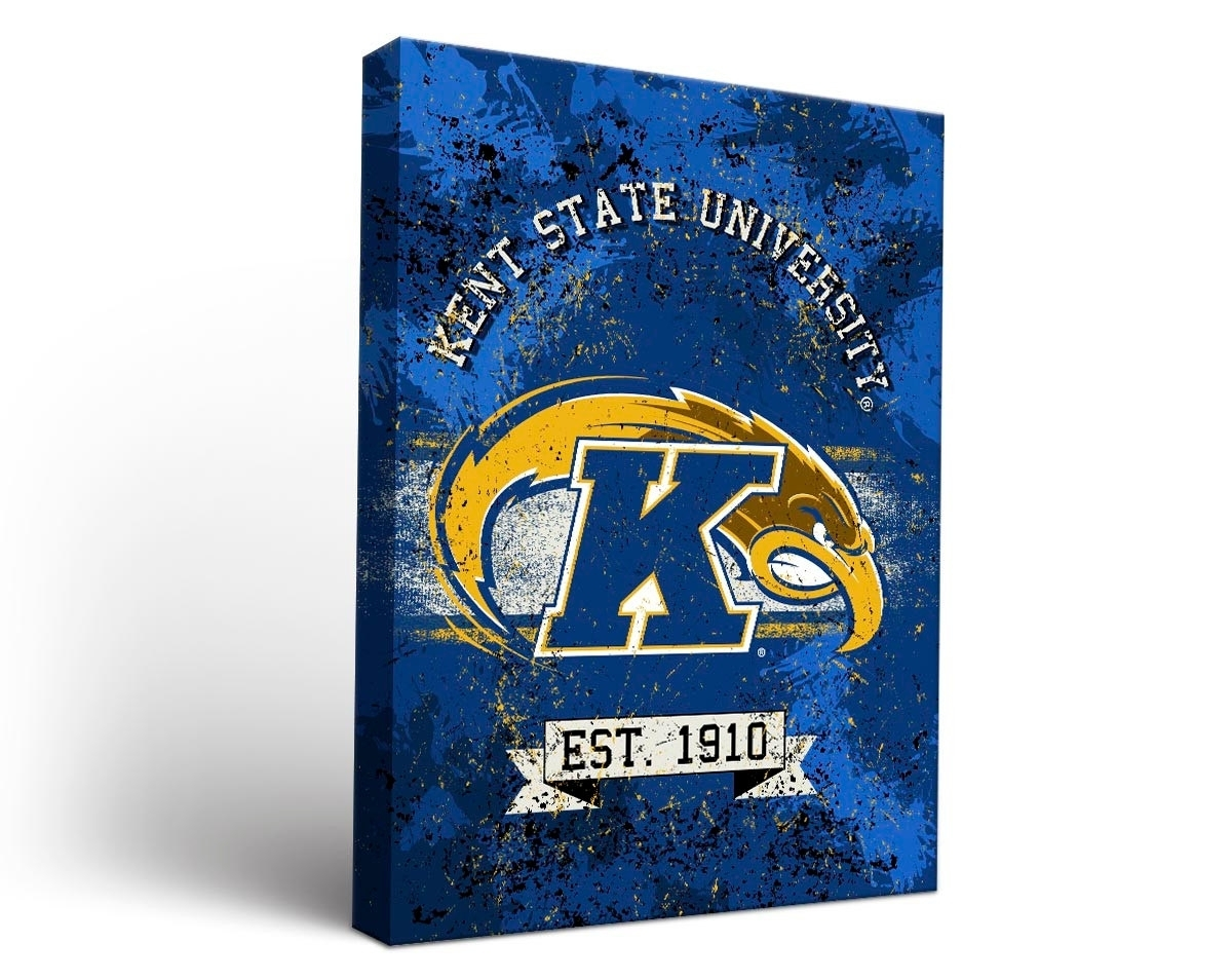 Kent State Golden Flashes Banner Canvas Wall Art In 2018 Kent Canvas Wall Art (View 9 of 15)