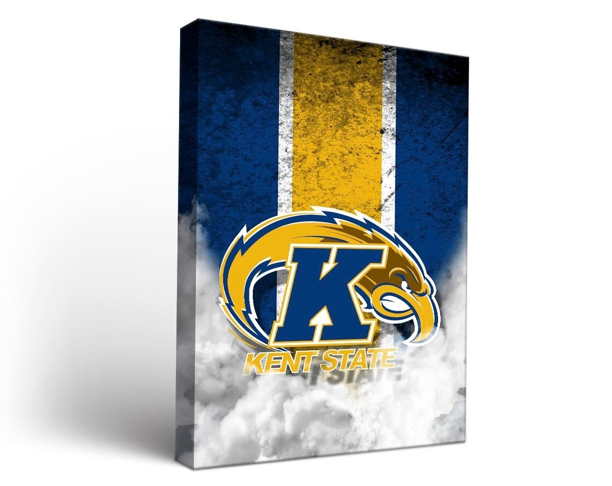 Kent State Golden Flashes Vintage Canvas Wall Art With Regard To Current Kent Canvas Wall Art (Gallery 13 of 15)