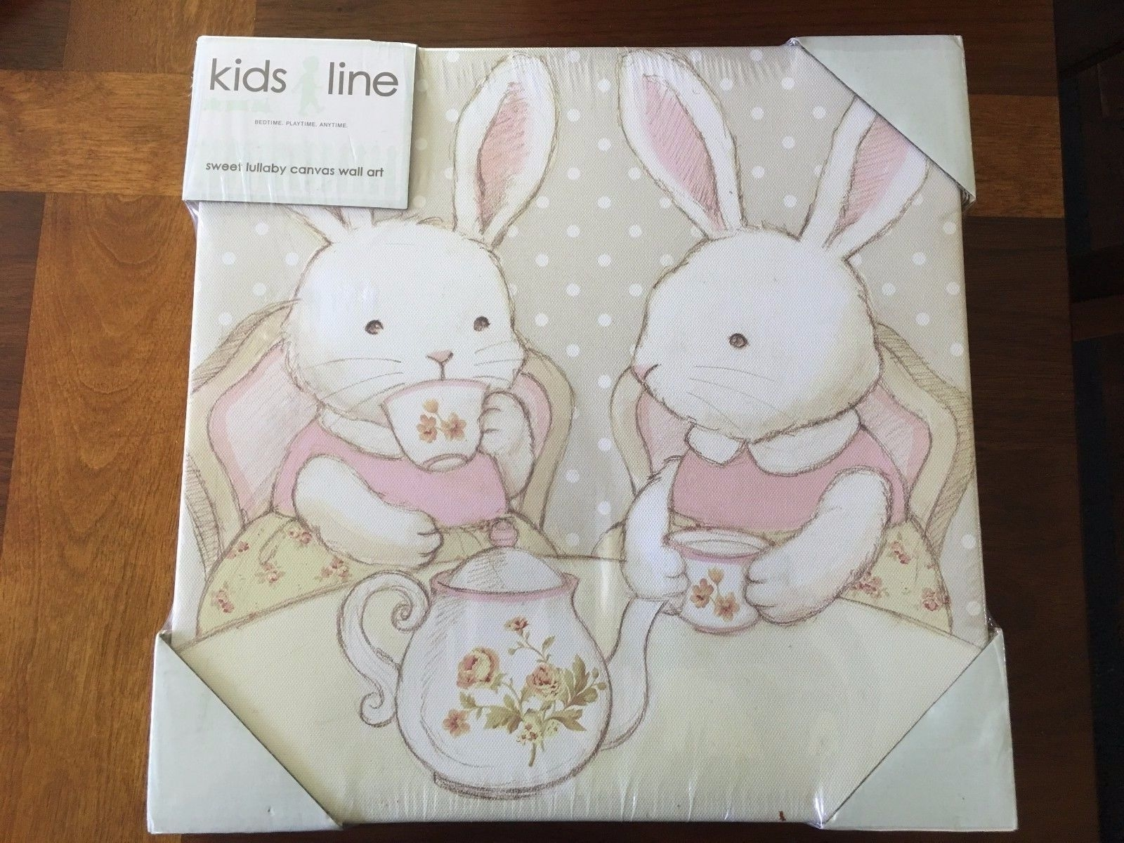 Kidsline Sweet Lullaby Canvas Wall Art Set Of 2 Girl Nursery with Most Recently Released Kidsline Canvas Wall Art